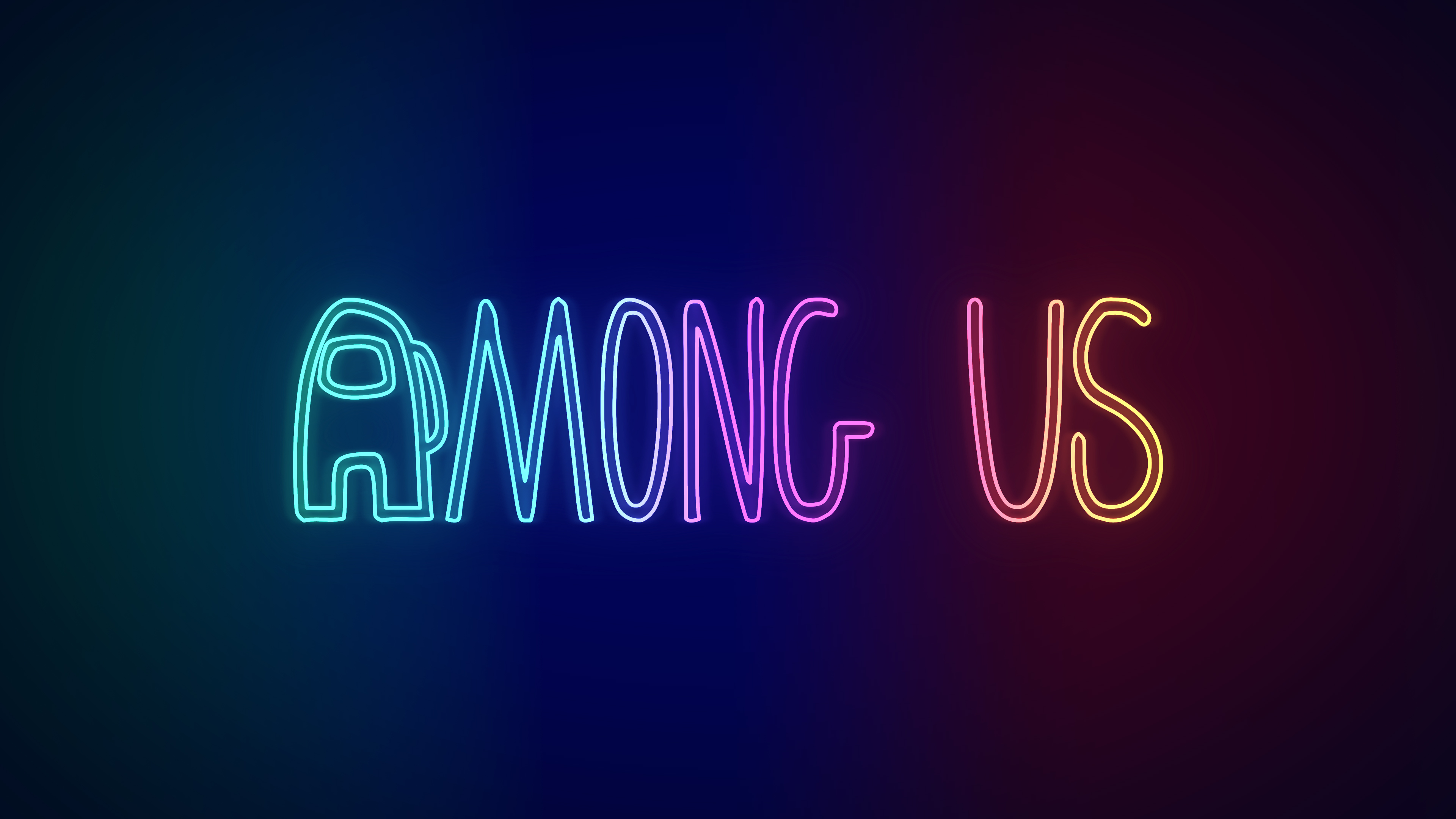 Among Us 4k Wallpaper Neon Ios Games Android Games Pc Games Gradient Background Games 3954