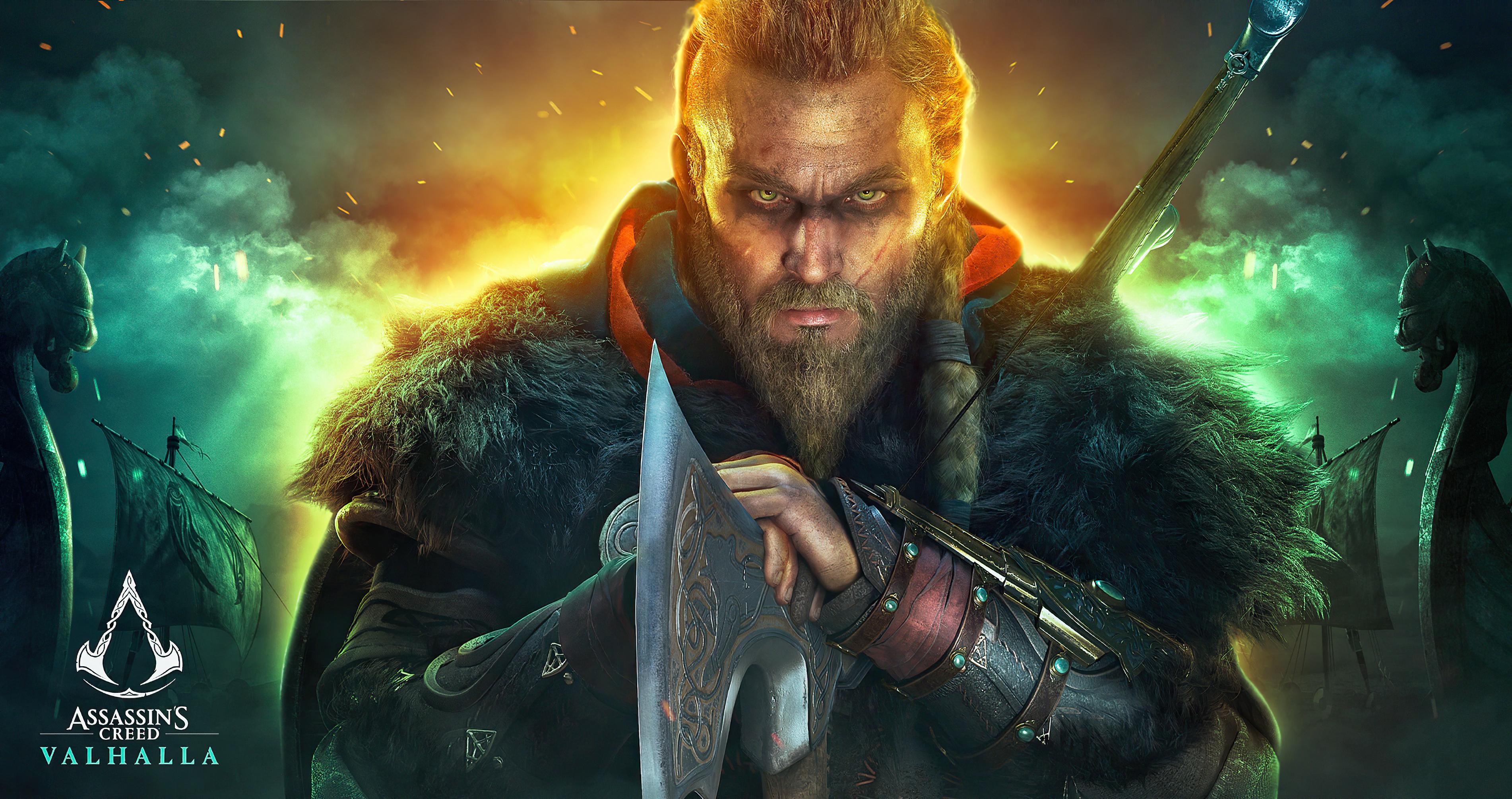 Assassin S Creed Valhalla 4k Wallpaper Eivor Viking Raider Pc Games Playstation 4 Playstation 5 Xbox One Games 1045