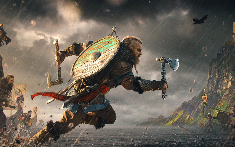 Assassin S Creed Valhalla 4k Wallpaper Eivor Viking Raider Vikings Pc Games Playstation 4 Playstation 5 Games 555