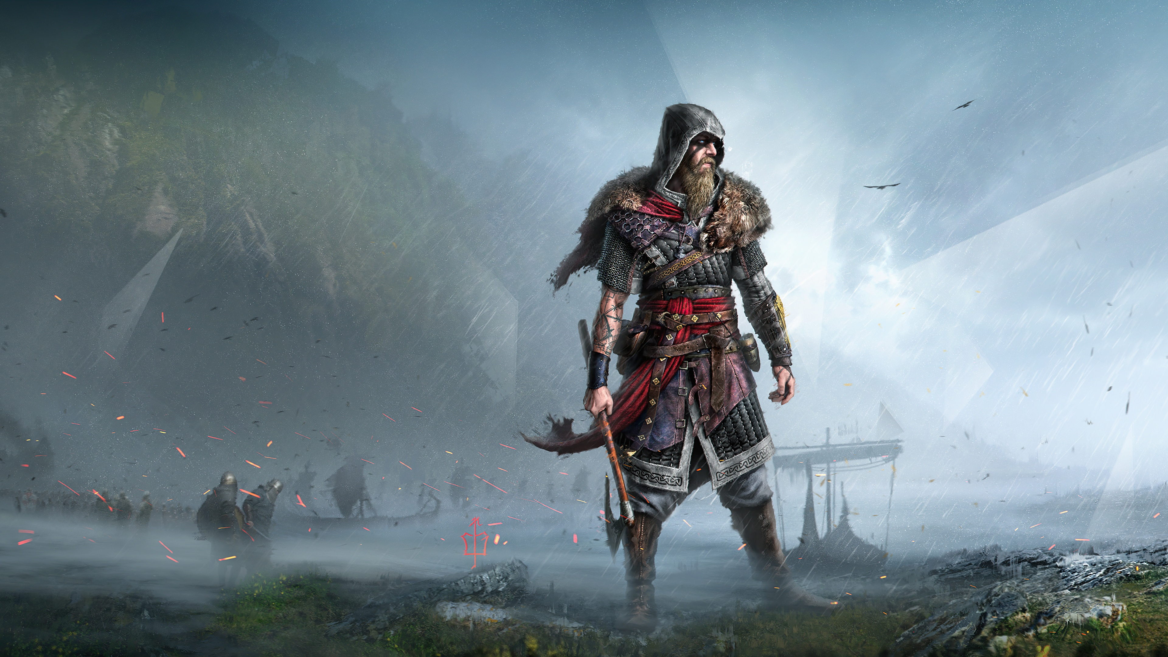Assassin S Creed Valhalla 4k Wallpaper Viking Raider Fan Art Pc