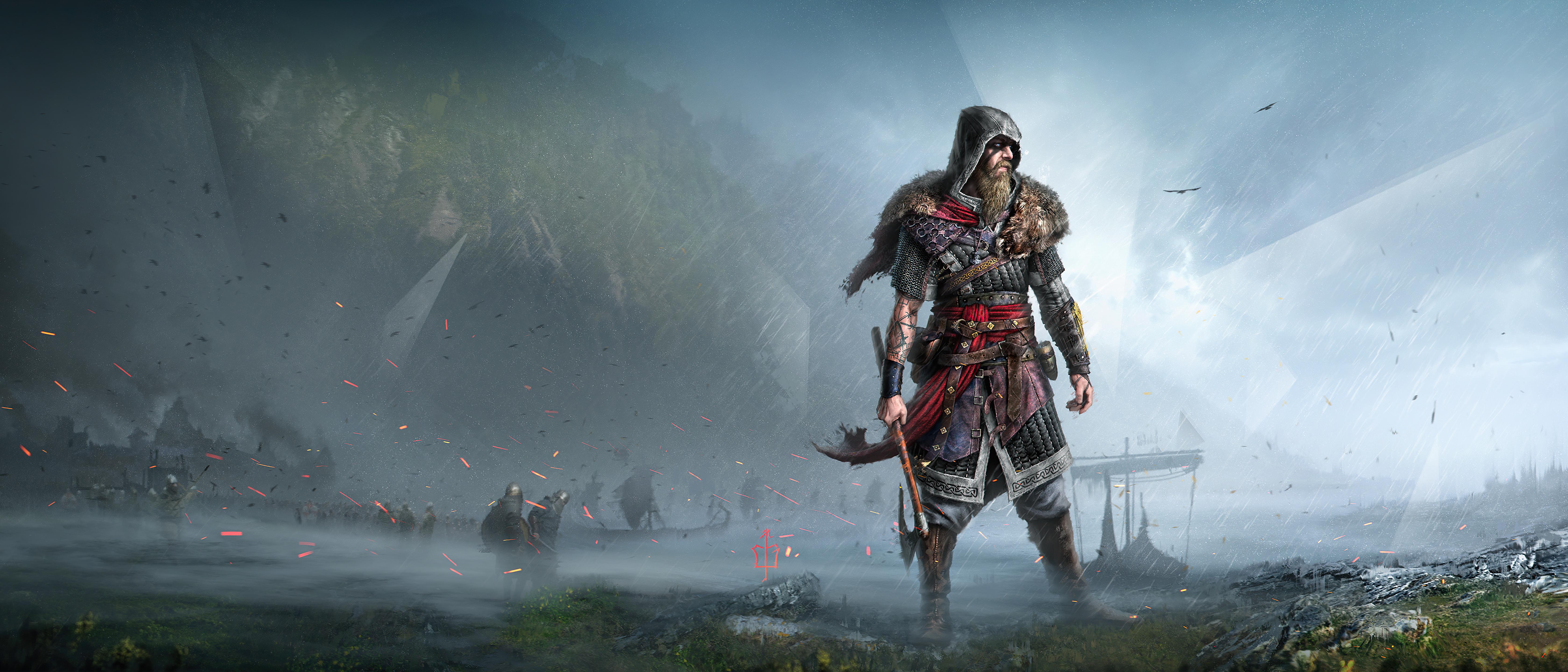 Assassin S Creed Valhalla 4k Wallpaper Viking Raider Fan Art Pc Games Playstation 4 Playstation 5 Xbox One Games 1185