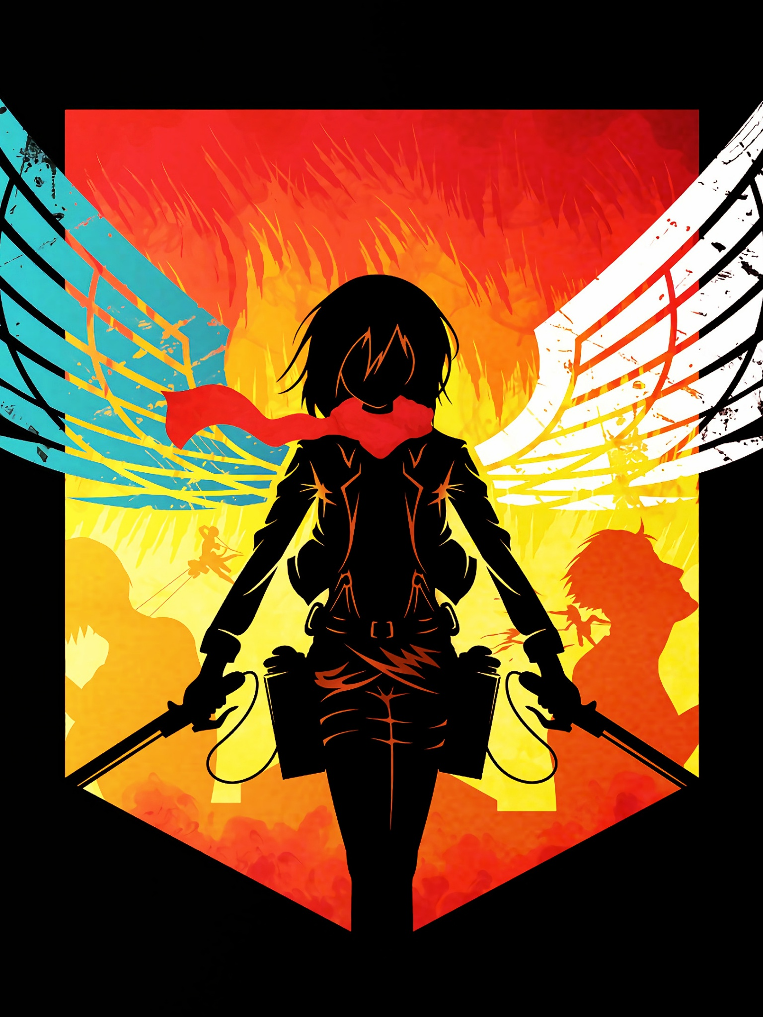 Attack On Titan 4k Wallpaper Shingeki No Kyojin Mikasa Ackerman Anime Series Season 3 Graphics Cgi 2073