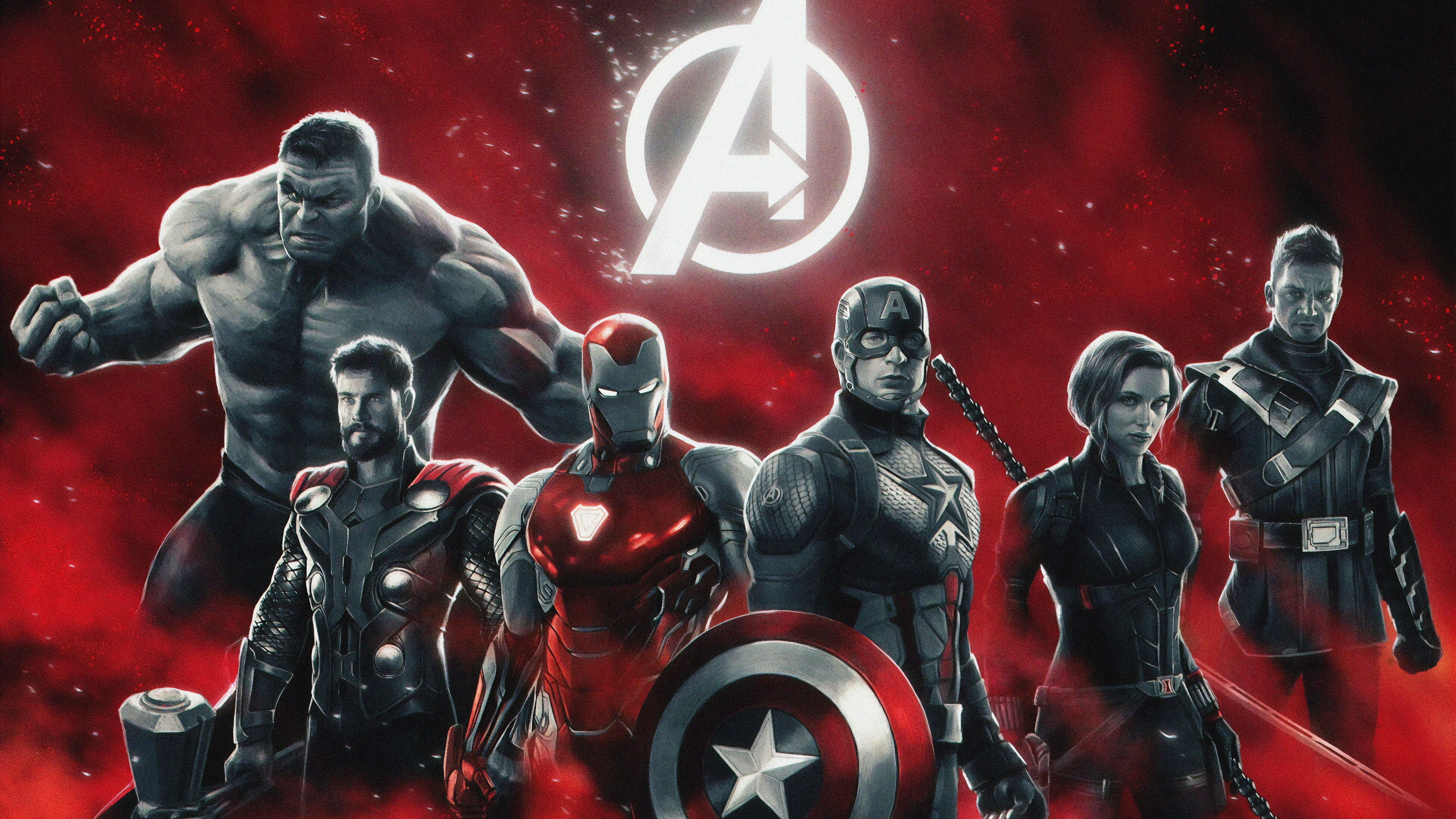 Avengers 4k Wallpaper Hulk Thor Iron Man Captain America Black Widow Hawkeye Movies 1140