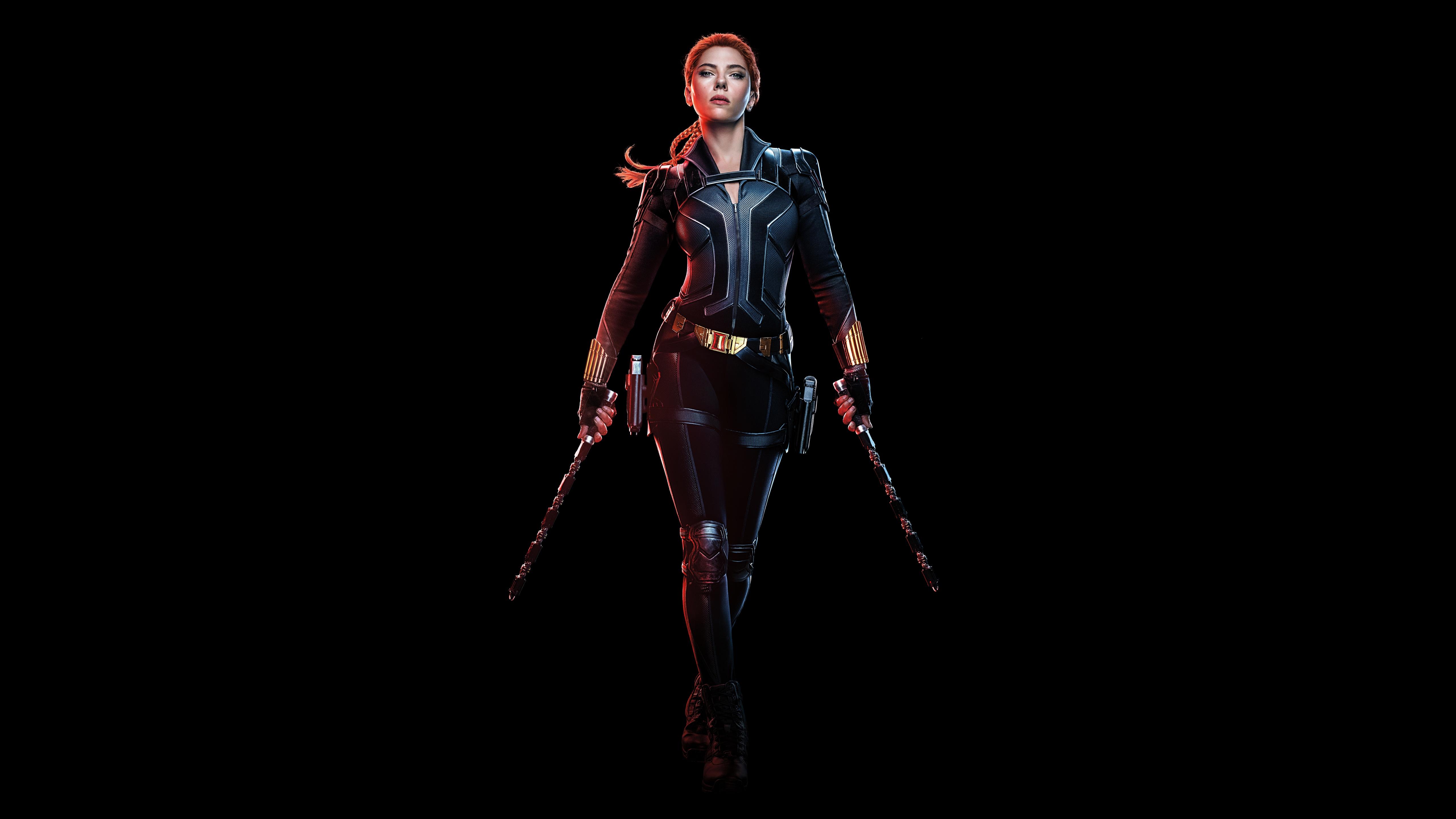 Black Widow 4k Wallpaper Scarlett Johansson Black Background 2020 Movies 5k 8k Black Dark 433