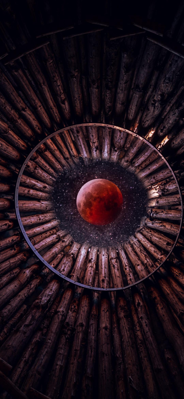 404+Blood Moon Wallpaper 21K, Looking up at Sky, Stars, Circular ...