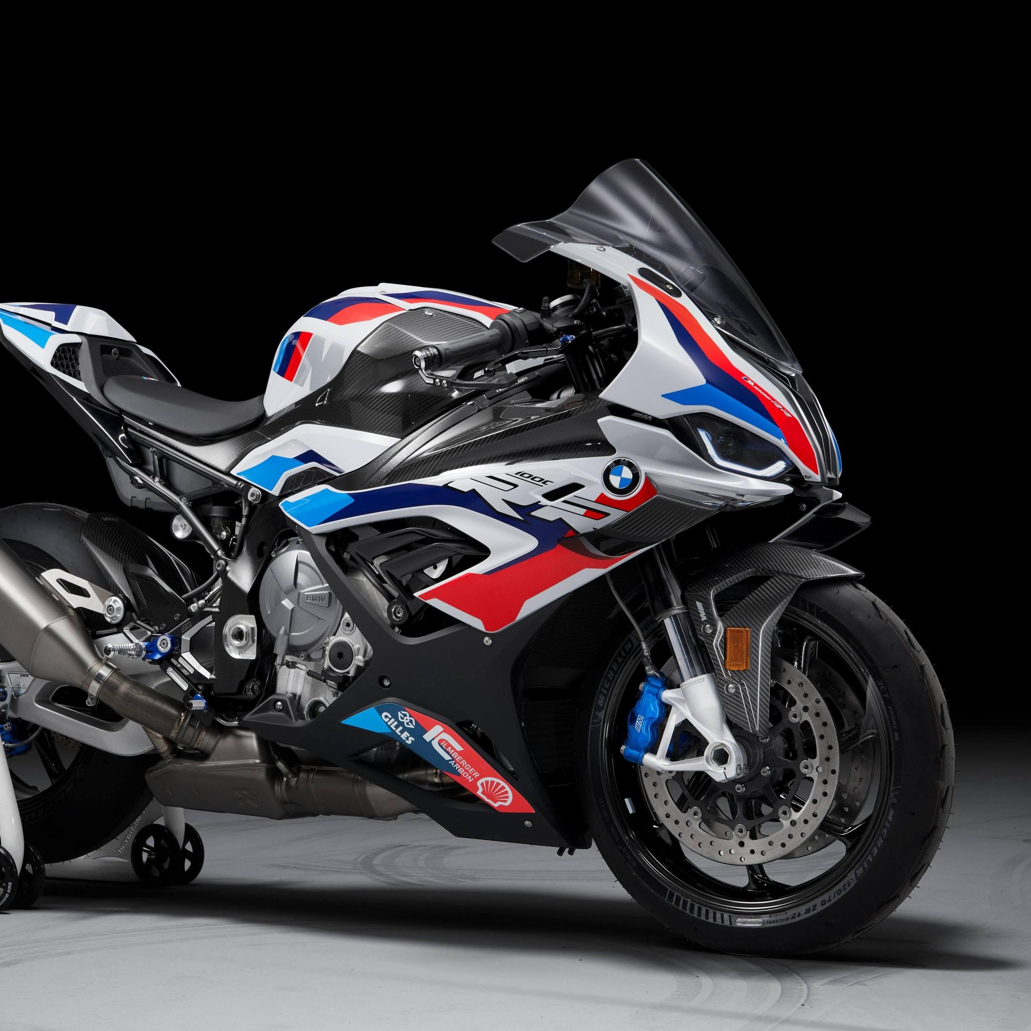 BMW M 1000 RR 4K Wallpaper, Race bikes, 2021, Black ...