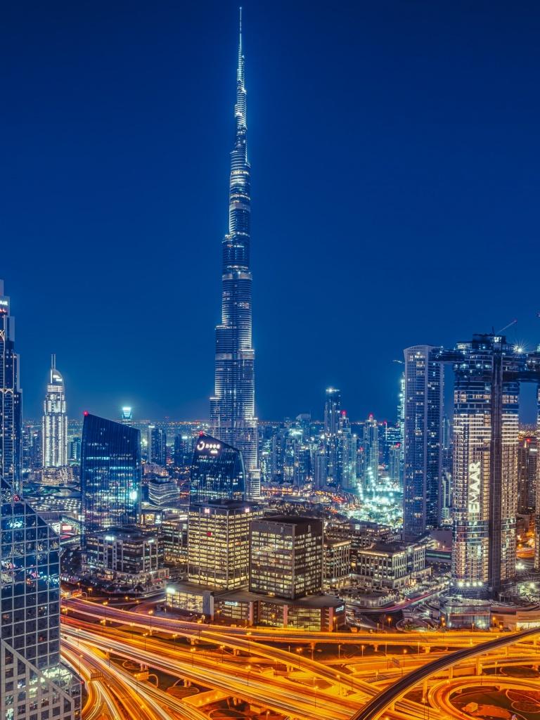 Burj Khalifa 4K Wallpaper, Dubai, Skyscraper, Cityscape