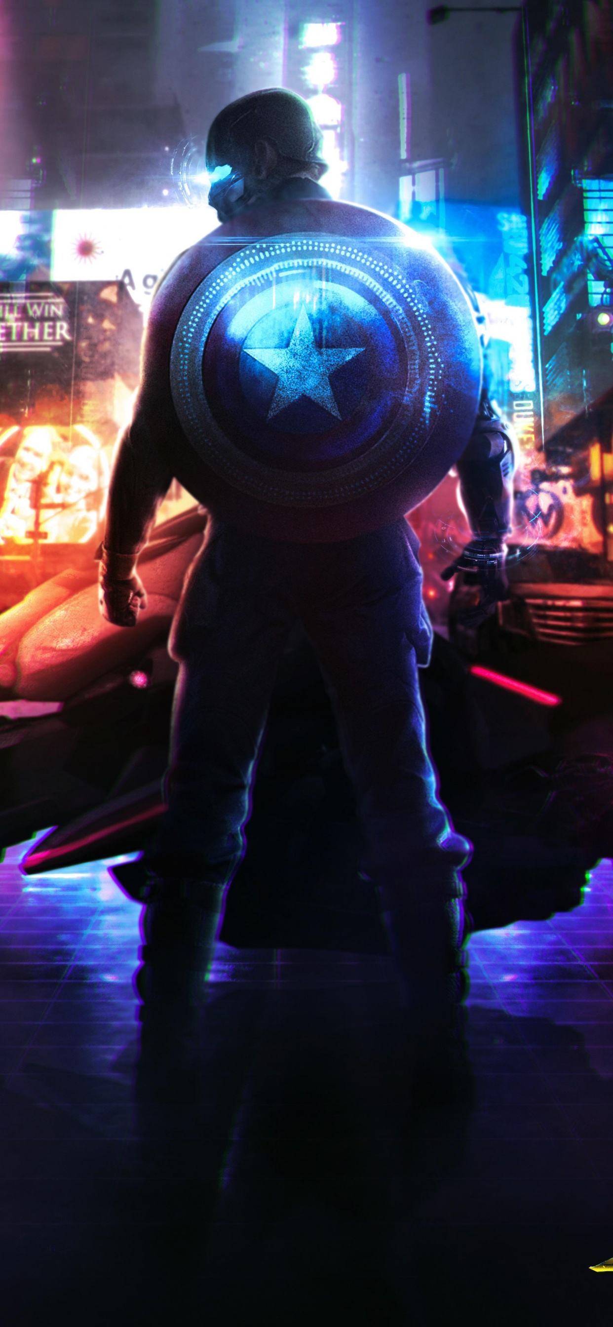 Cyberpunk 2077 4K Wallpaper, Captain America, Neon ...