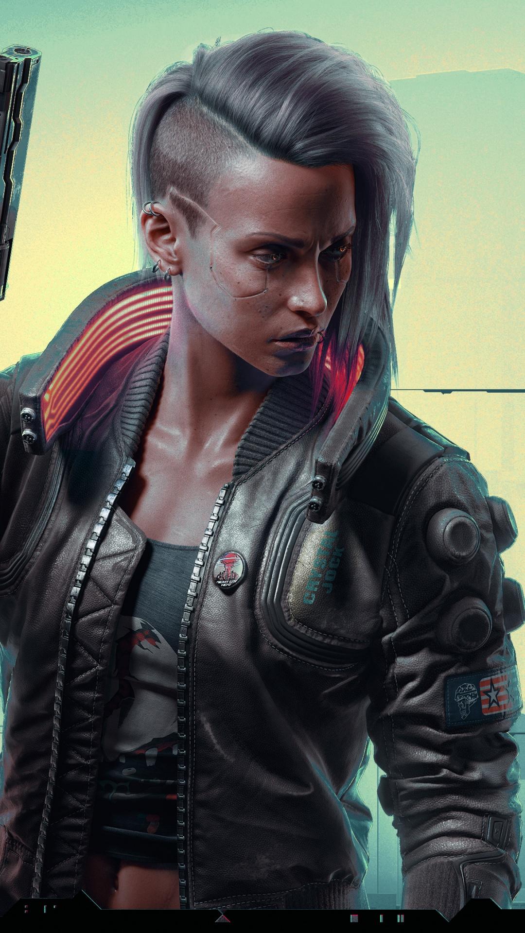 4K Wallpaper Cyberpunk 2077, Female V, 2020 Games, Xbox
