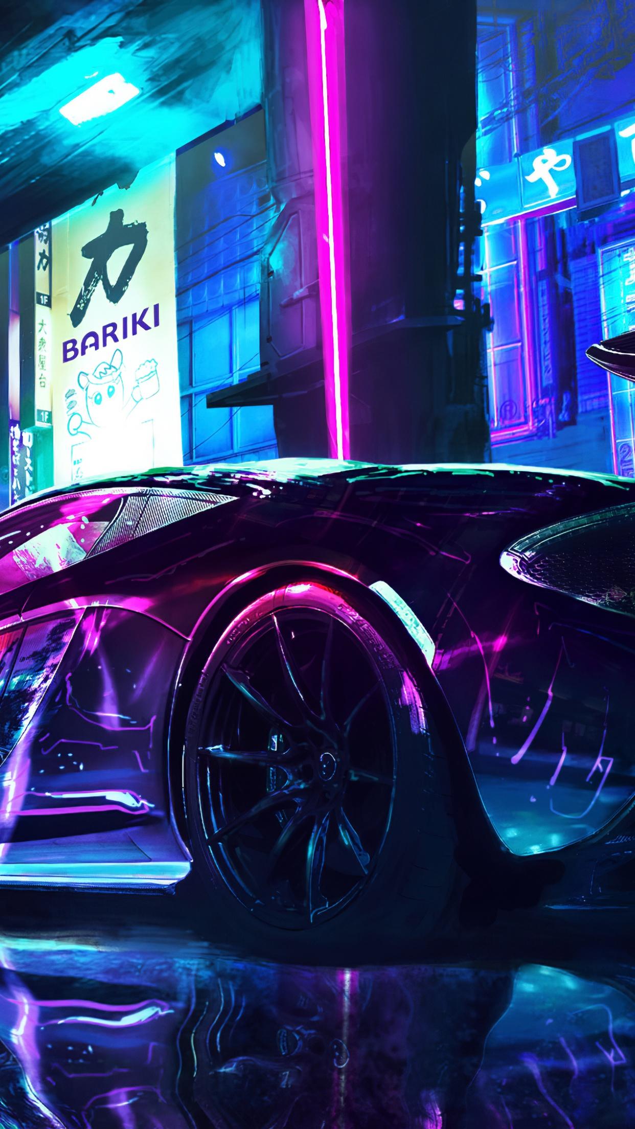 Cyberpunk 4K Wallpaper, McLaren, Supercars, Neon art, Cars ...