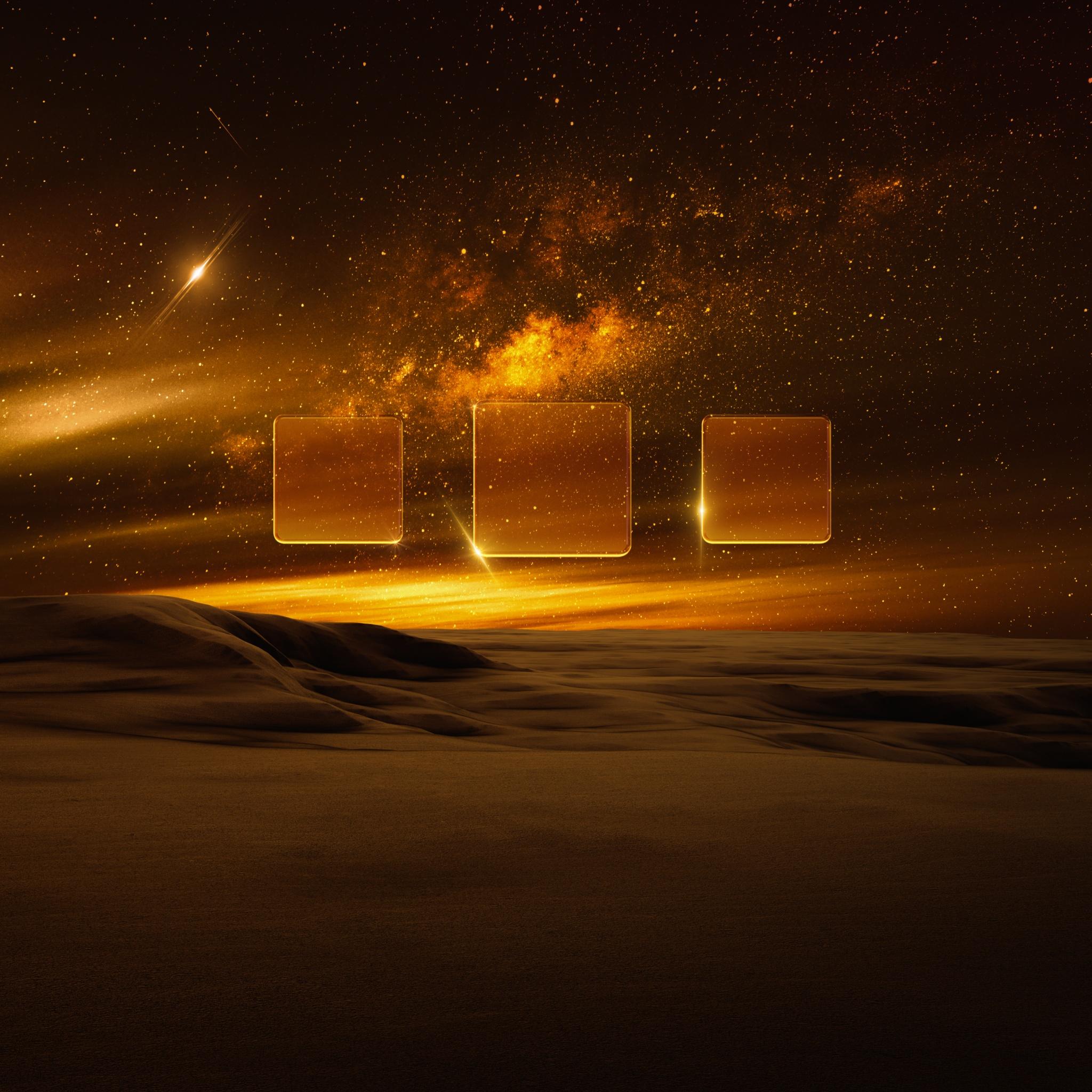 4K Wallpaper Desert, Nebula, Milky Way, Starry Sky