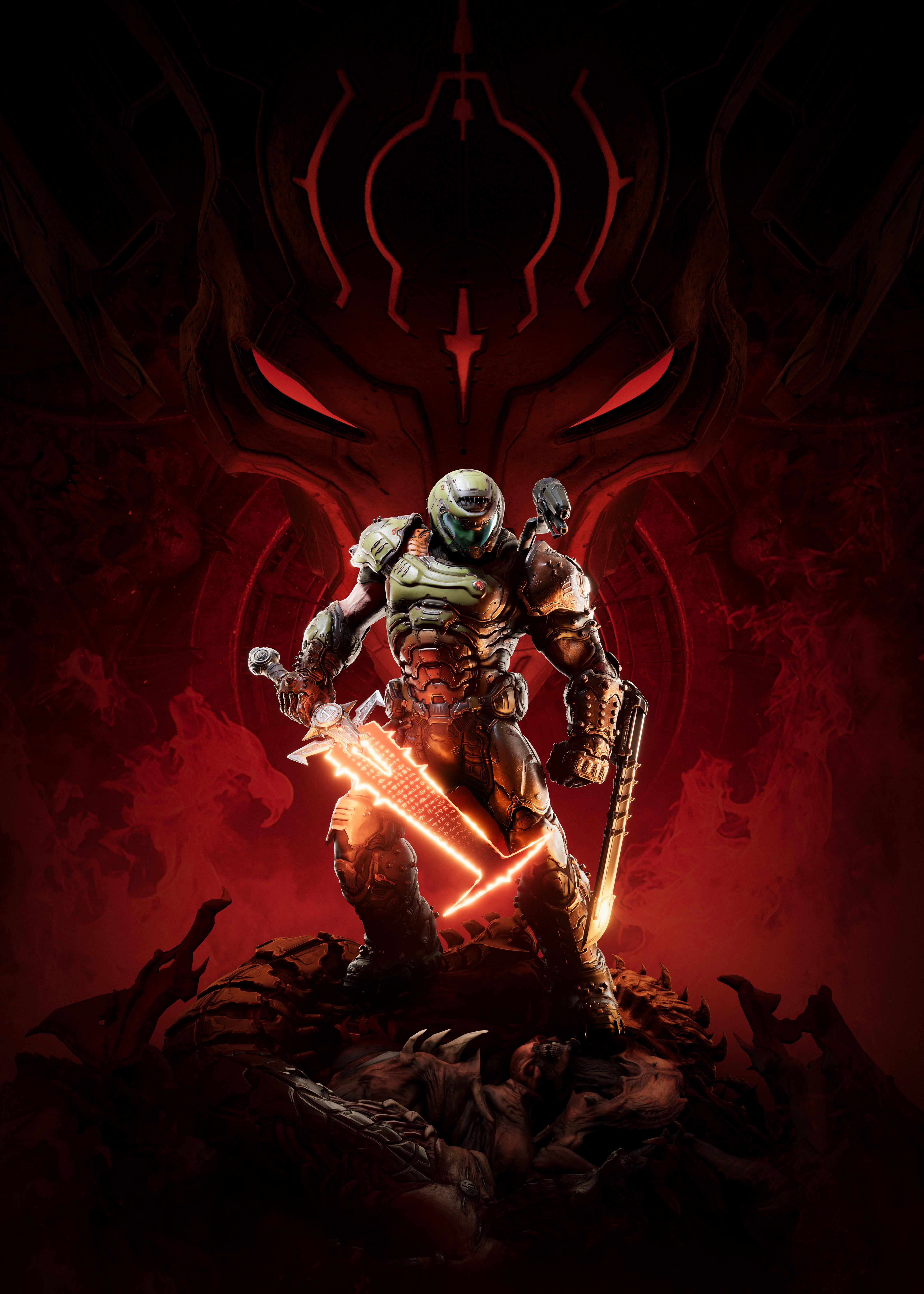 Doom Eternal 4K Wallpaper, Doomguy, Doom Slayer, 2020 ...