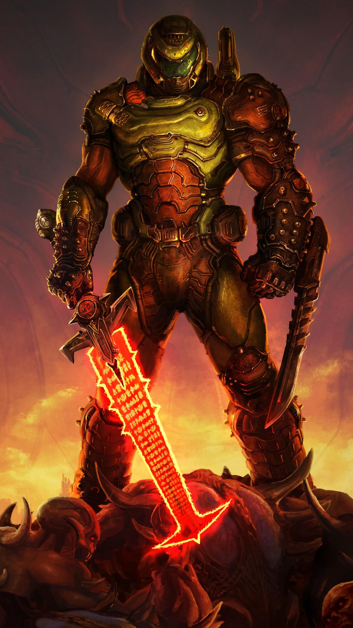 DOOM Eternal 4K Wallpaper, Doomguy, Doom Slayer, PC Games ...