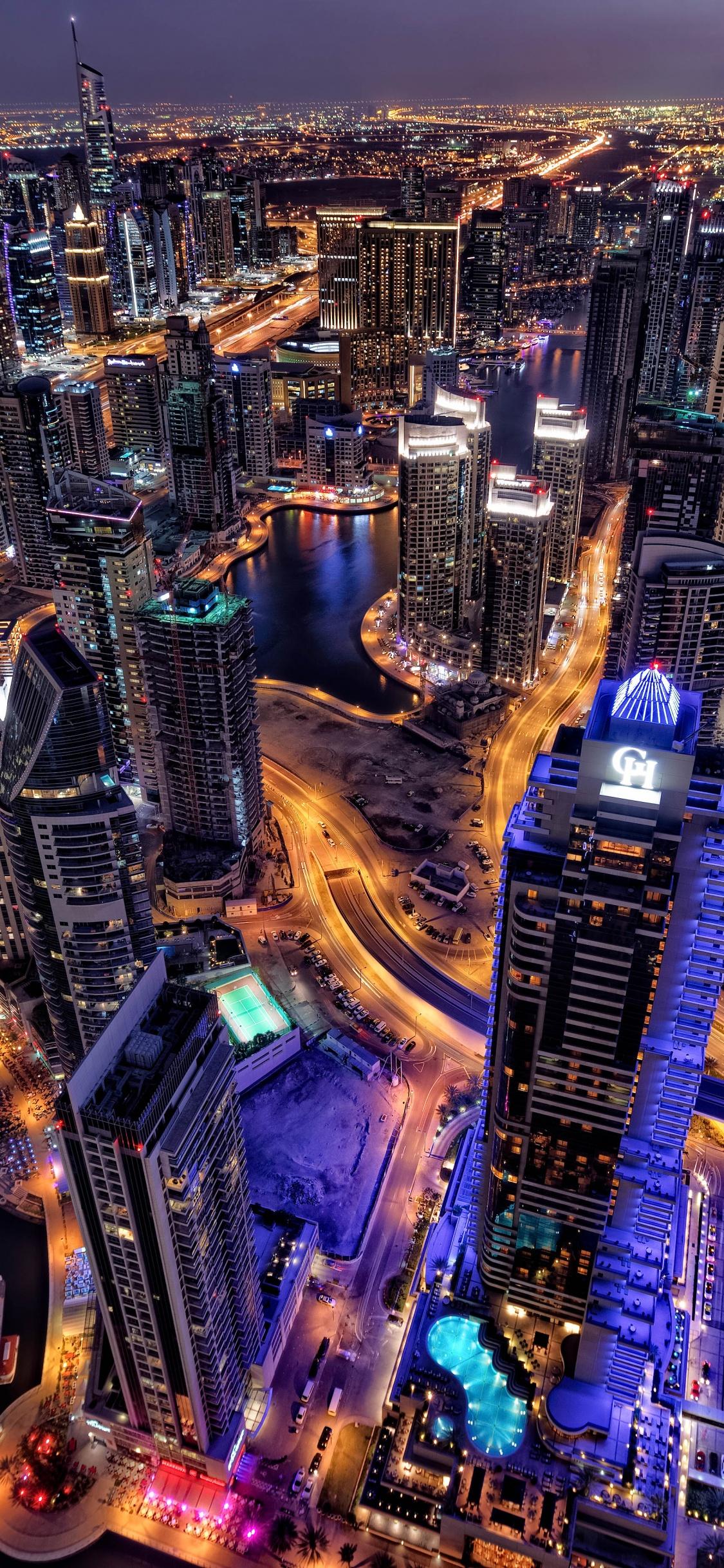 Dubai 4k Wallpaper Cityscape Skyline Aerial View Skyscrapers City Lights Night Hdr World 1311