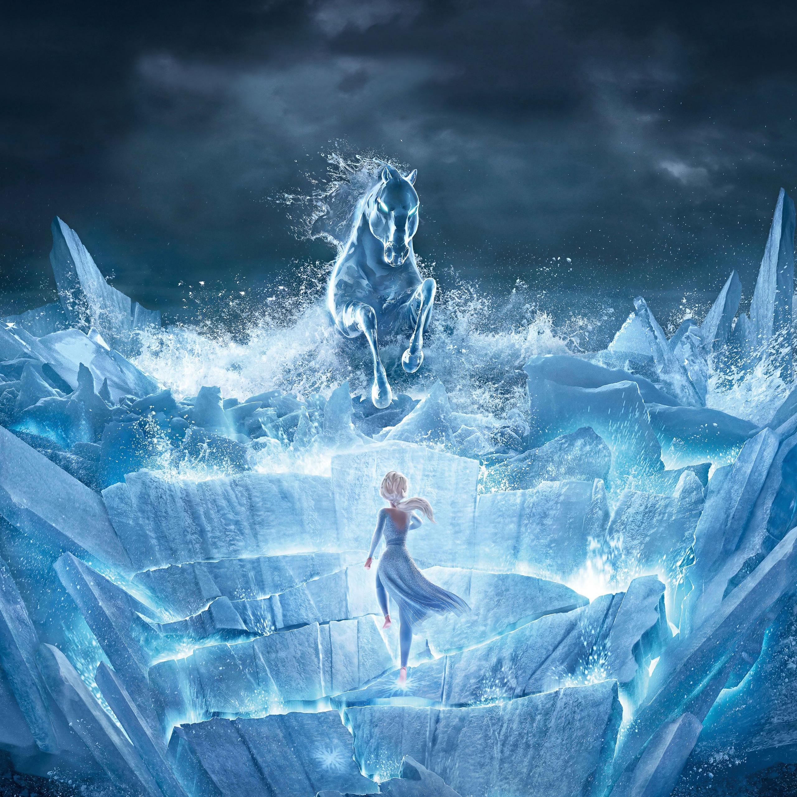 Elsa 4k Wallpaper Frozen 2 The Nokk Water Spirit Animation Movies 670