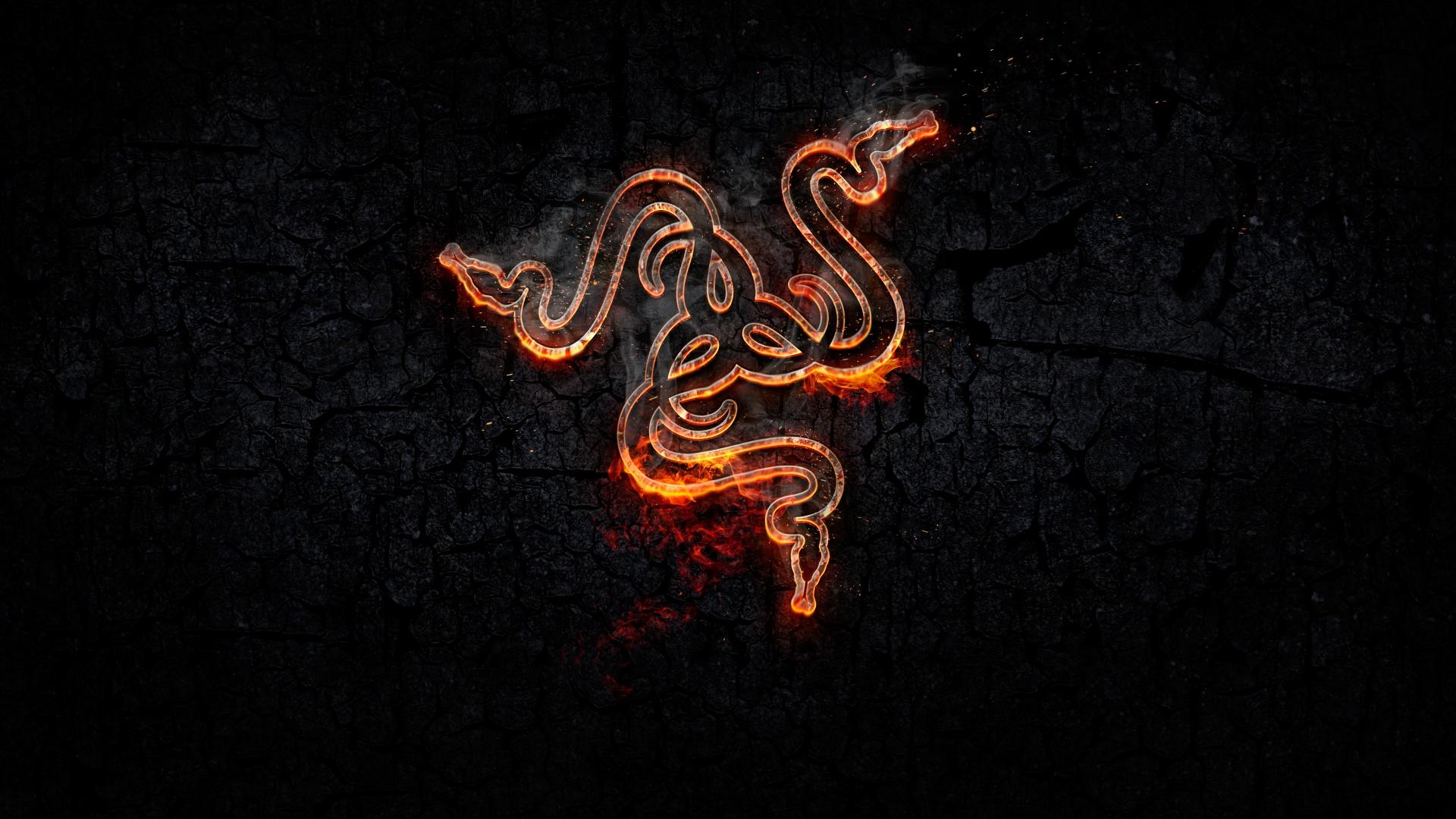 Forged 4k Wallpaper Razer Fire Dark Background Black Dark 1394
