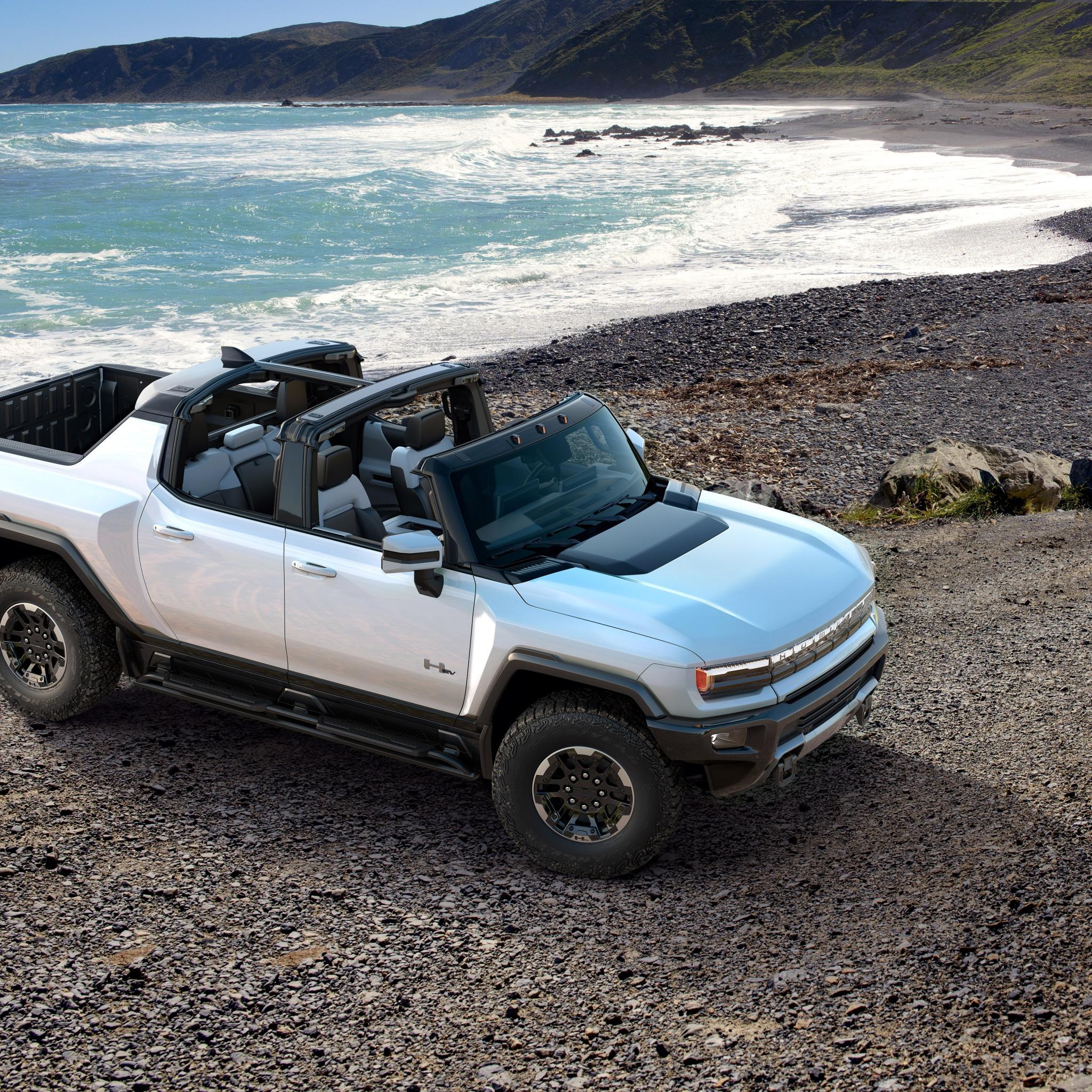 Gmc Hummer Ev 4k Wallpaper Electric Suv Beach Sunset Luxury Suv Electric Trucks 2022 5k Cars 3122