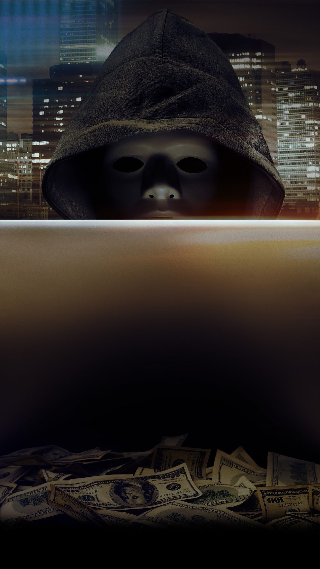 hacker hoodie anonymous laptop wallpapers technology currency 4k 4kwallpapers