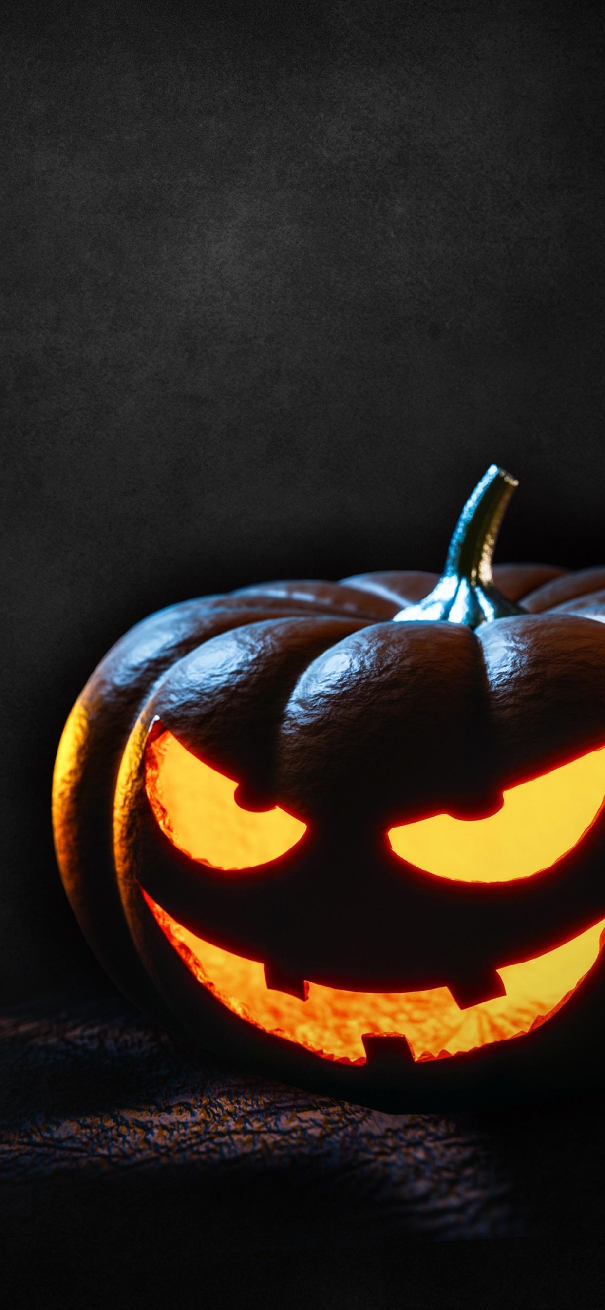 halloween pumpkin scary glowing wallpapers dark celebrations 4k