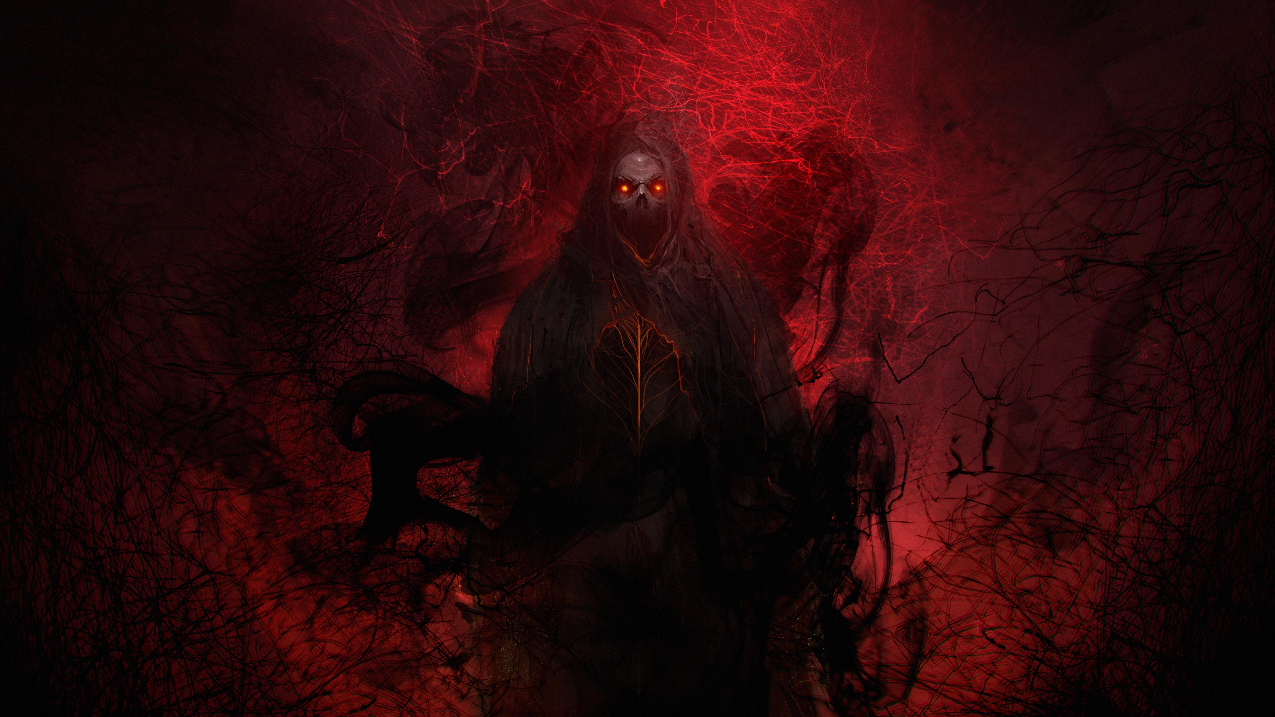 hell 5k cgi graphics frightening demon scary
