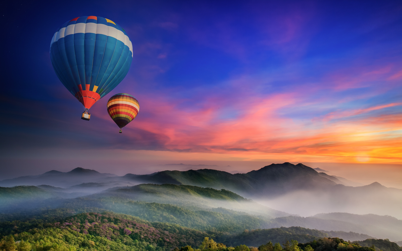 Hot air balloons 4K Wallpaper, Doi Inthanon National Park ...