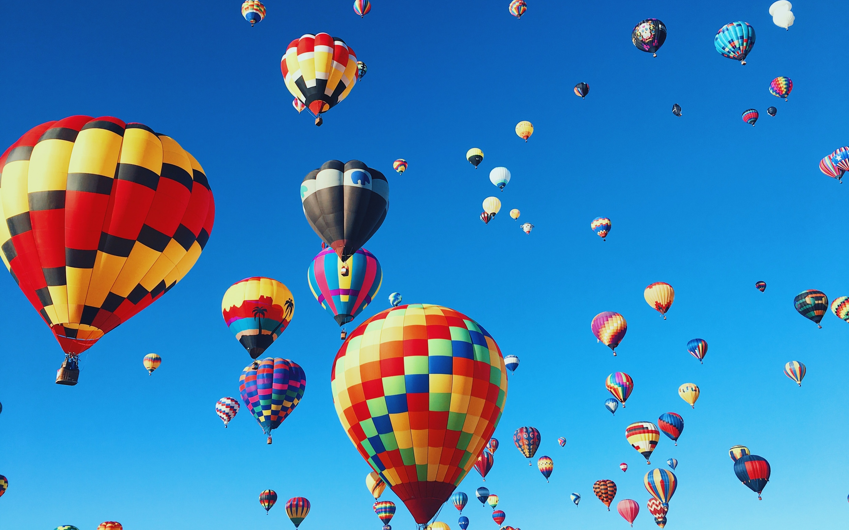 Hot Air Balloons Wallpaper 4k Festival Colorful Blue Sky Aesthetic Photography 1117