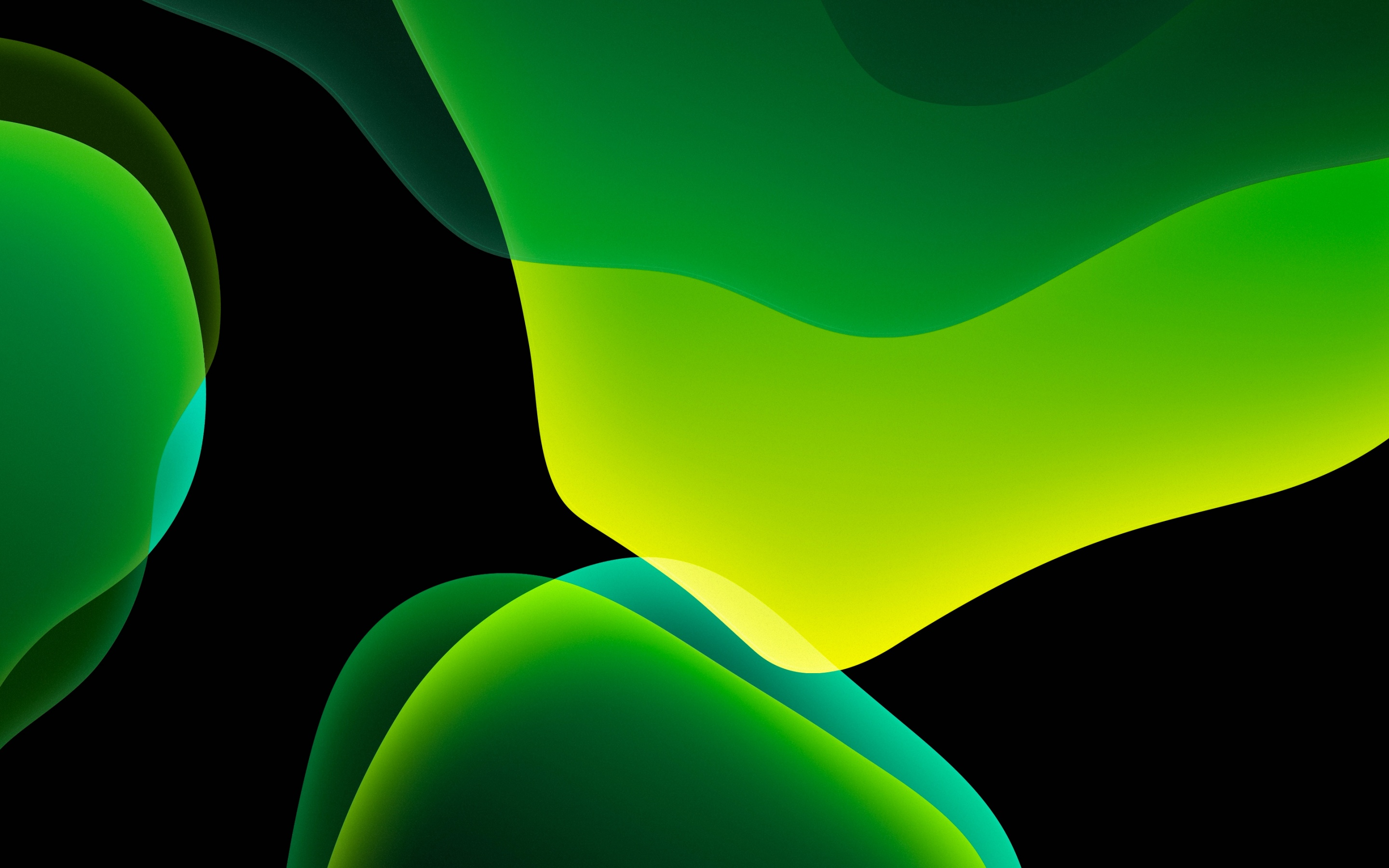 Ios 13 4k Wallpaper Stock Ipados Green Black Background Amoled Ipad Hd Abstract 793