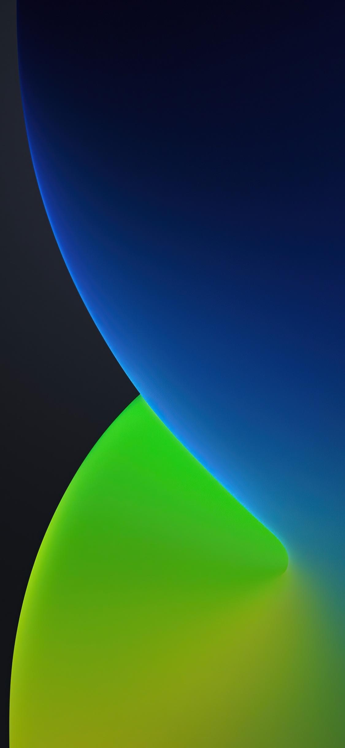 Ios 14 4k Wallpaper Wwdc 2020 Iphone 12 Ipados Dark Green Blue Stock Gradients 1442