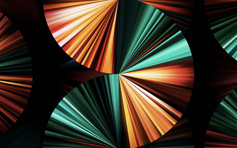 iPad Pro 2021 4K Wallpaper, Apple Event 2021, Green, Dark ...