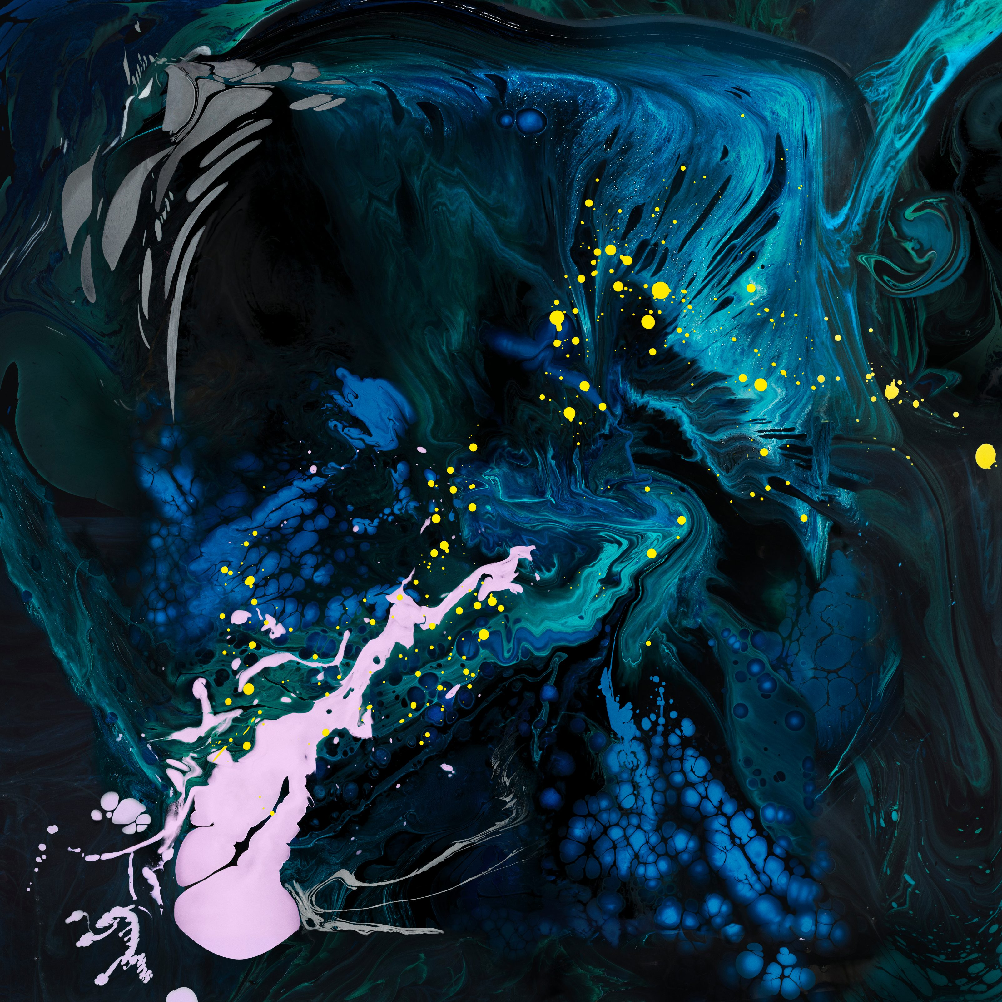 Ipad Pro 4k Wallpaper Liquid Art Blue Apple Stock Abstract 1388