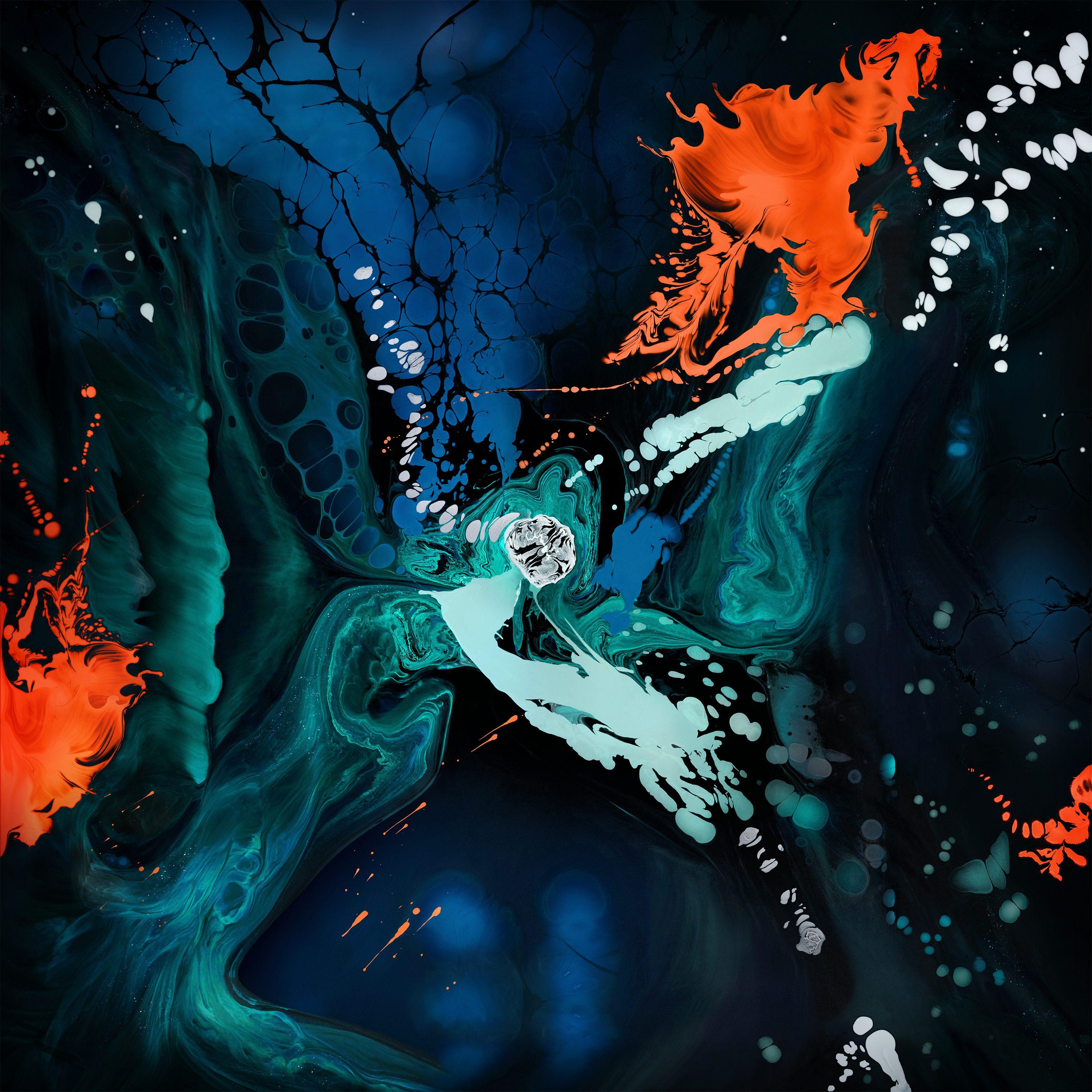 Ipad Pro 4k Wallpaper Liquid Art Colorful Apple Stock Abstract 1386