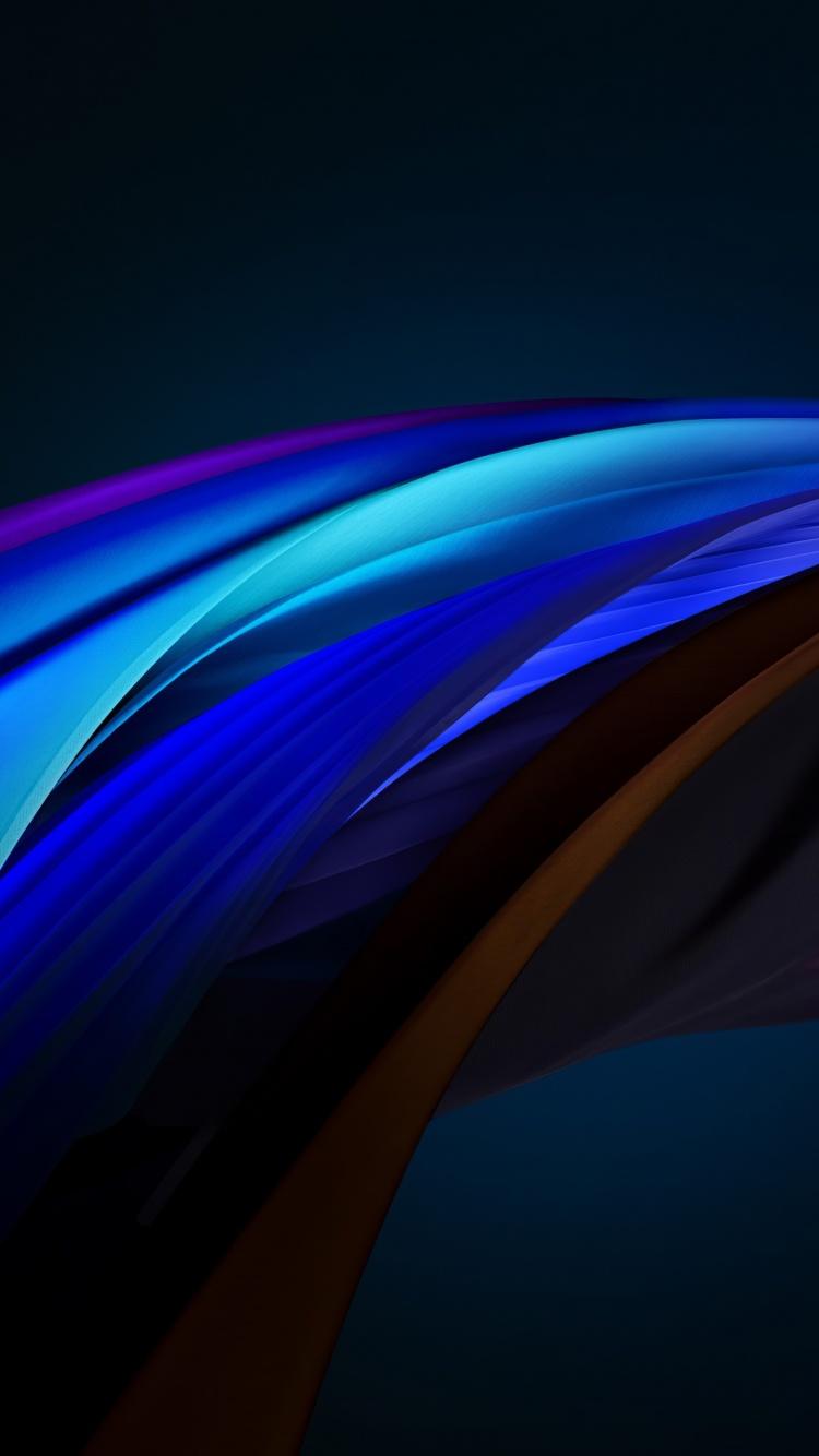 iPhone SE 4K Wallpaper, iOS 14, Blue, Dark, Stock, 2020 ...