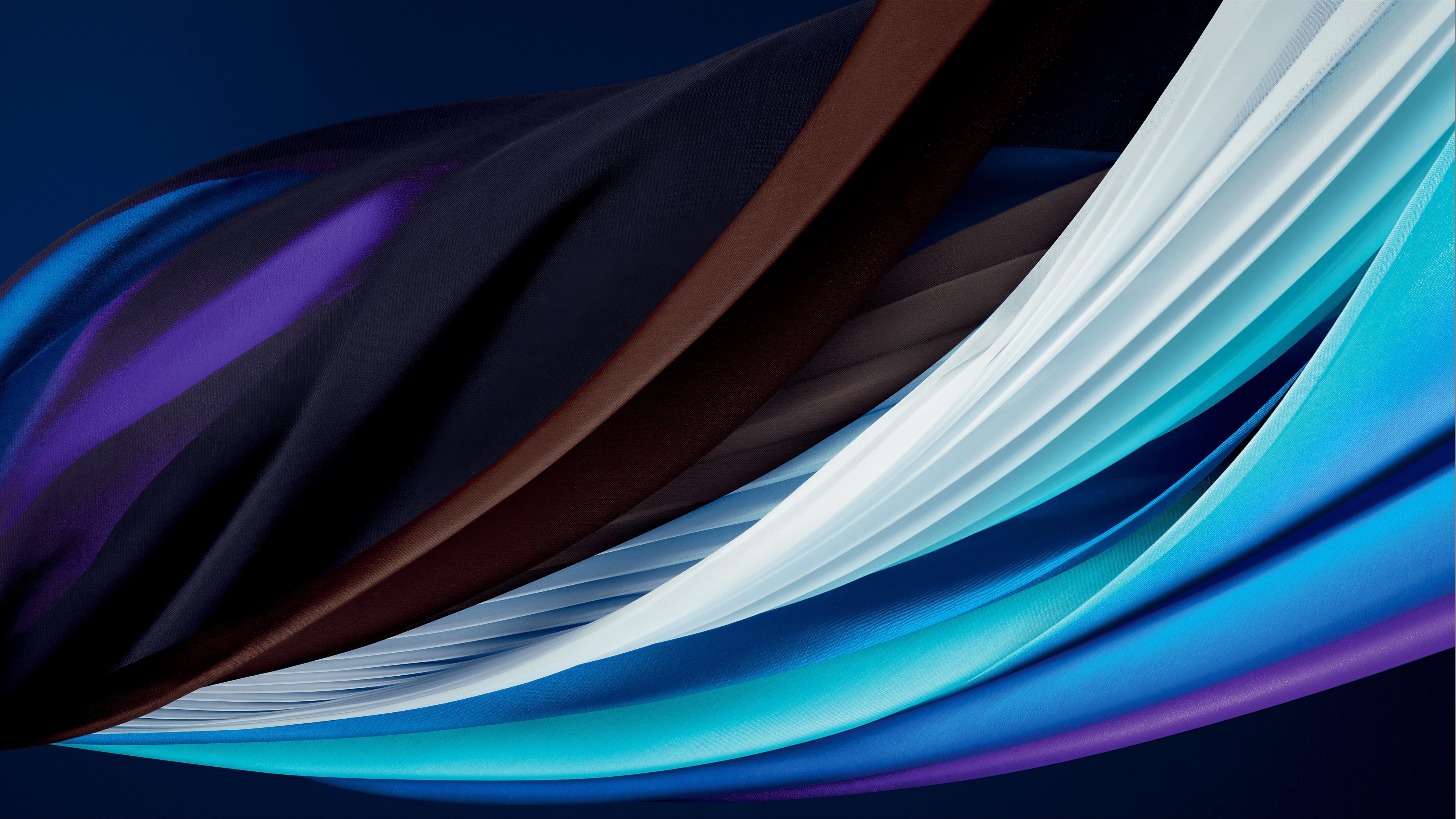 Iphone Se 4k Wallpaper Ios 14 Blue Stock 2020 5k 8k Abstract 1441
