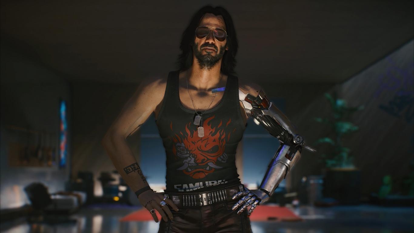 Johnny Silverhand 4K Wallpaper, Cyberpunk 2077, Keanu ...