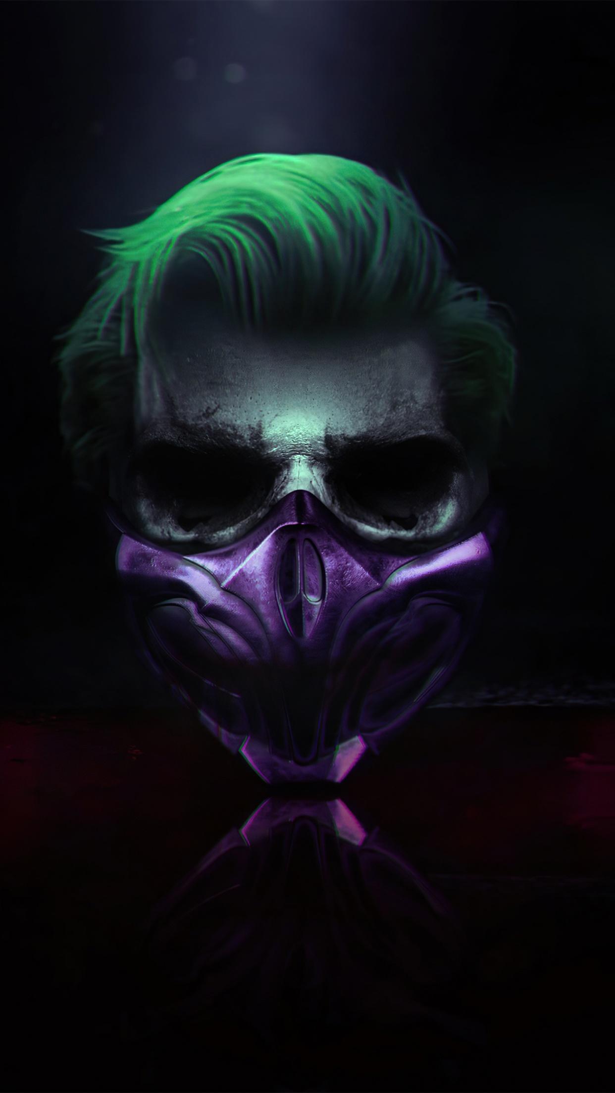 Joker 4k Wallpaper Mask Cyberpunk Dark Background Graphics Cgi 1483 Joker, joker (2019 movie), joaquin phoenix, dc comics, movies. joker 4k wallpaper mask cyberpunk
