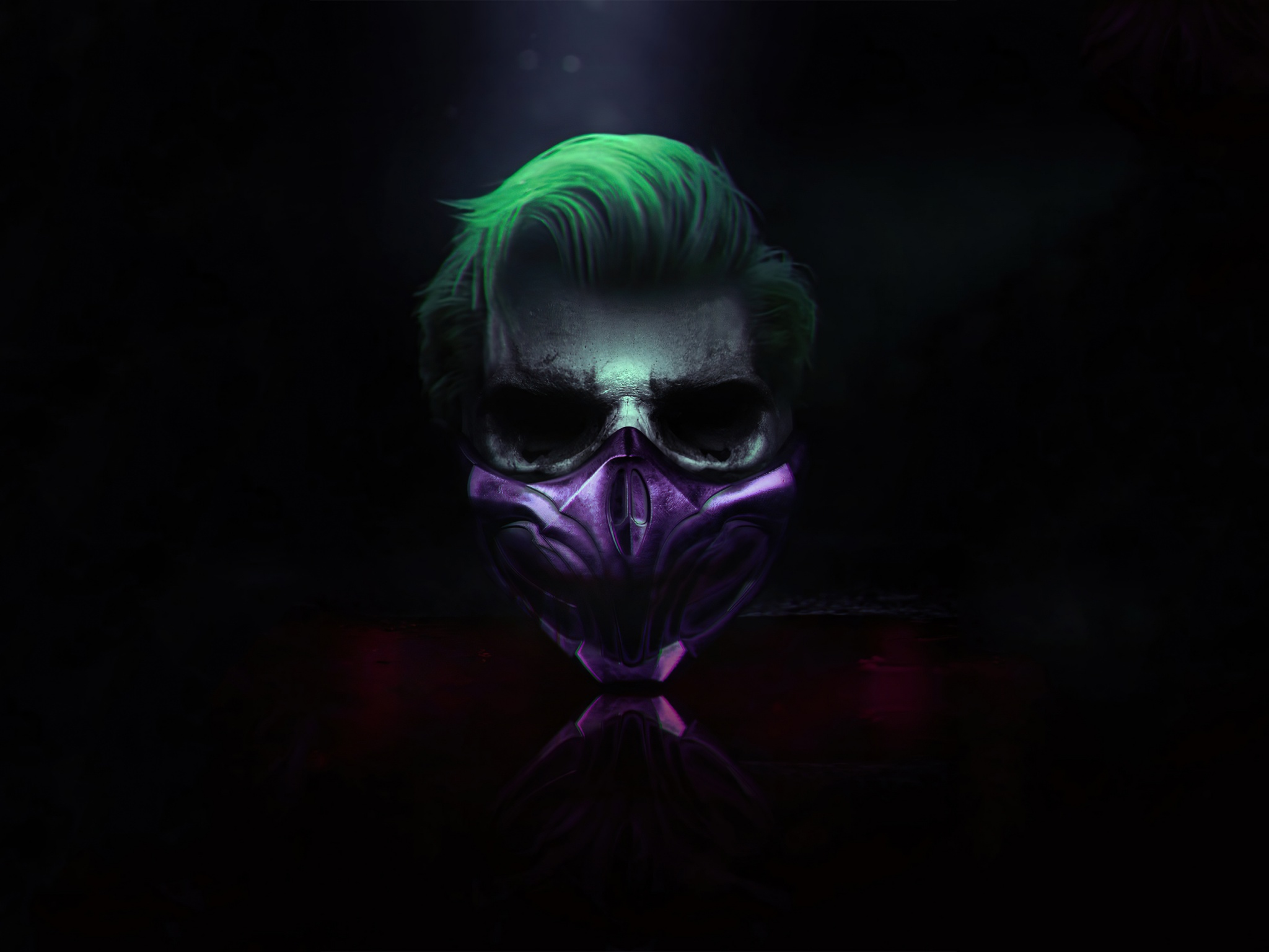 Joker 4k Wallpaper Mask Cyberpunk Dark Background Graphics Cgi 1483