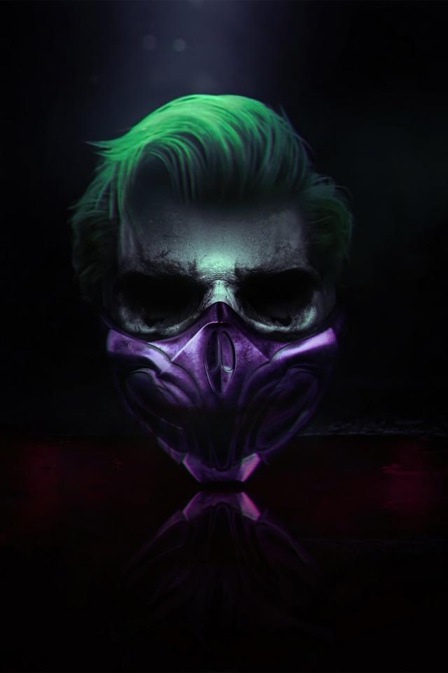 Joker 4K Wallpaper, Mask, Cyberpunk, Dark background, Graphics CGI, #1483