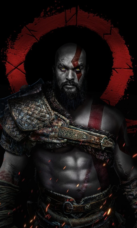 Kratos 4k Wallpaper Jason Momoa God Of War Dark Graphics Cgi