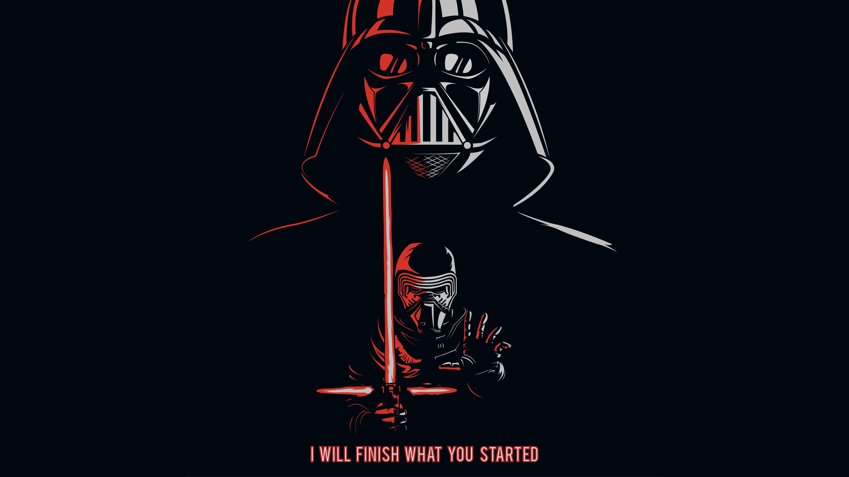 Kylo Ren 4k Wallpaper Darth Vader Black Background Popular Quotes 5k Black Dark 2707