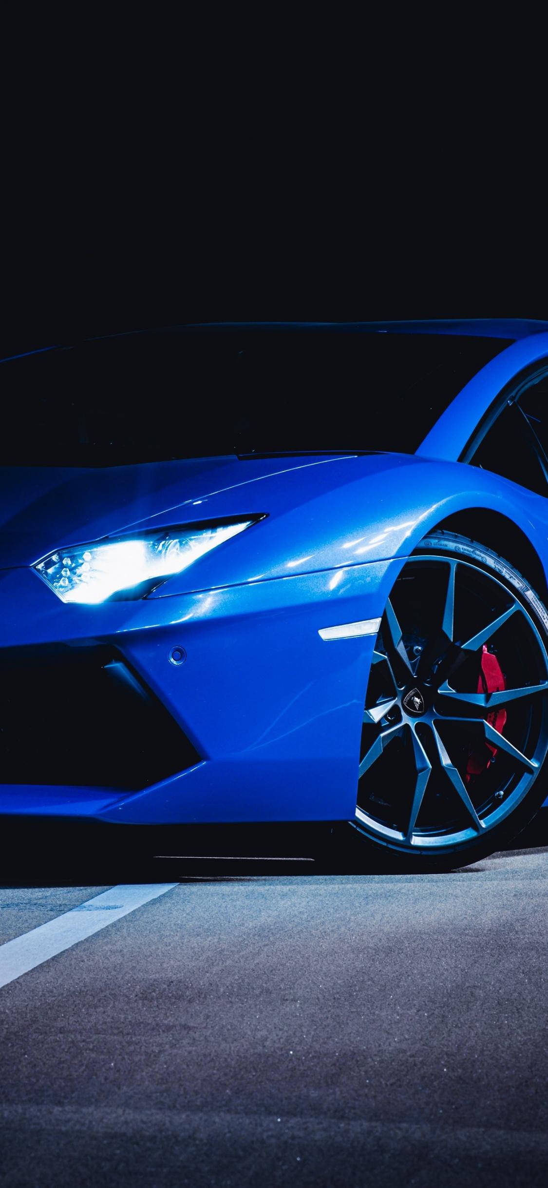 Lamborghini Huracan 4K Wallpaper, Blue, Dark, Cars, #1409