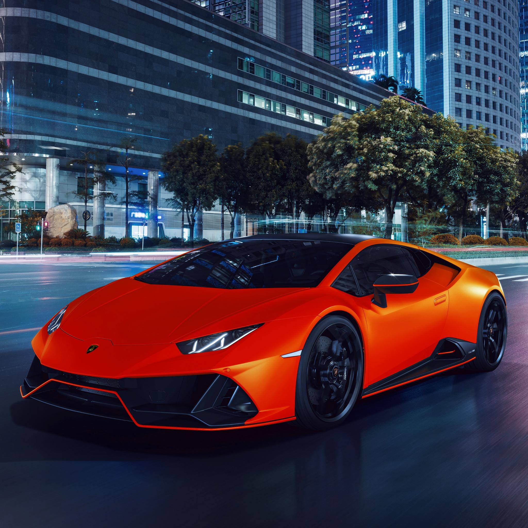 Lamborghini Huracan EVO Fluo Capsule 4K Wallpaper, Night