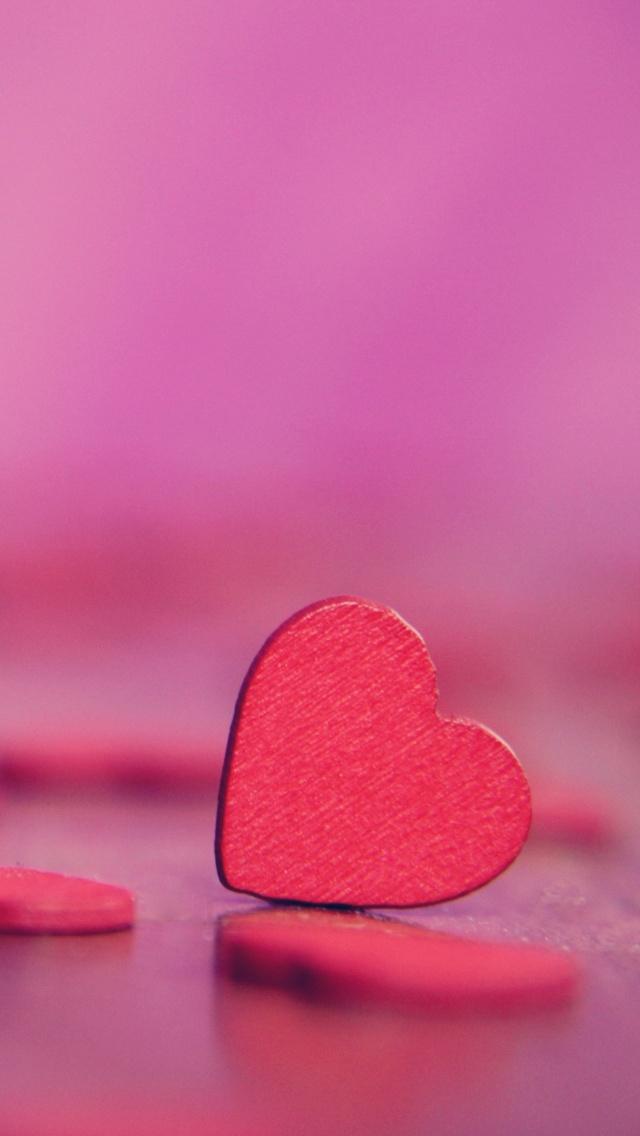 Love Hearts 4K Wallpaper, Pink Hearts, Bokeh, Alone, Love