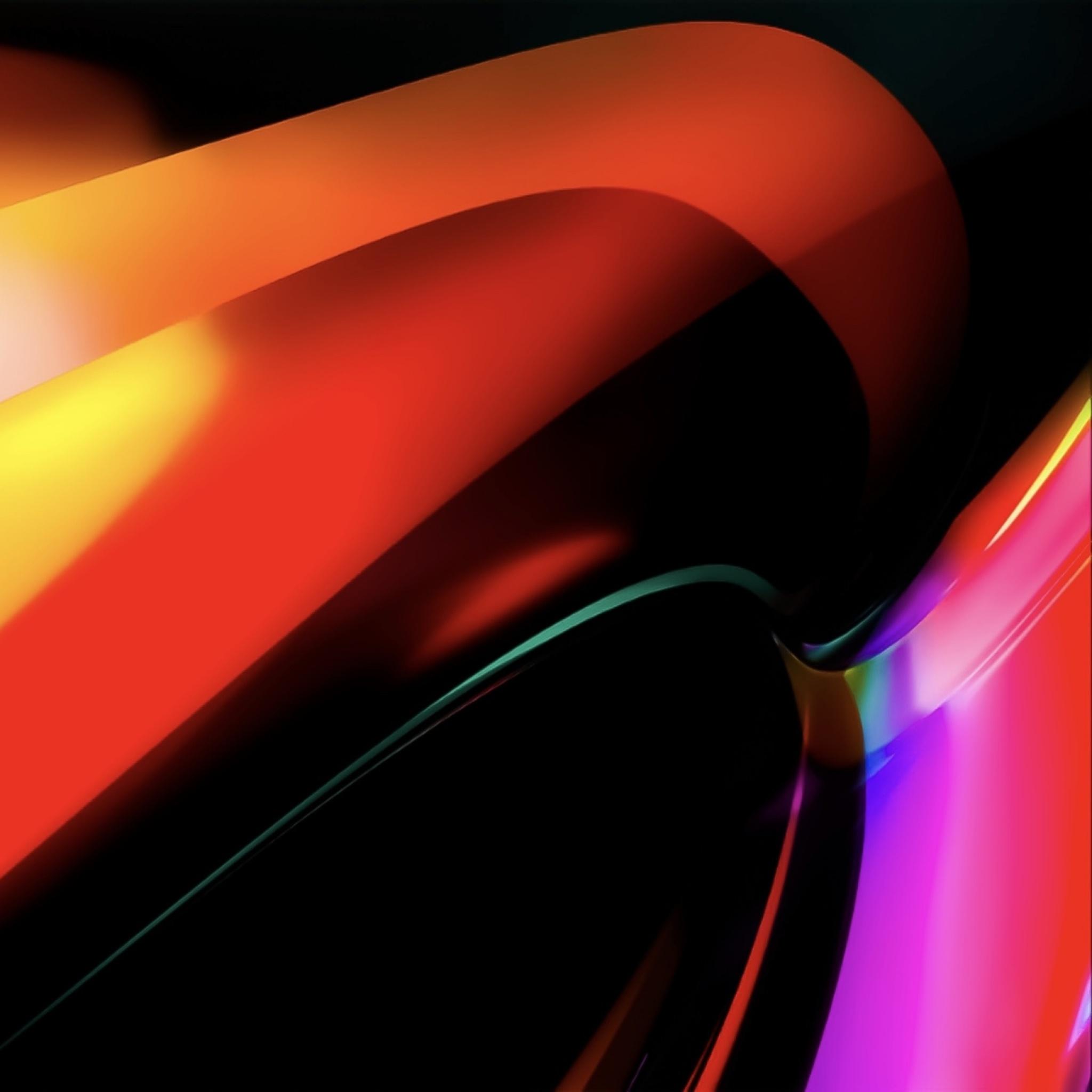 MacBook Pro 4K Wallpaper, Orange, Apple, Stock, Abstract