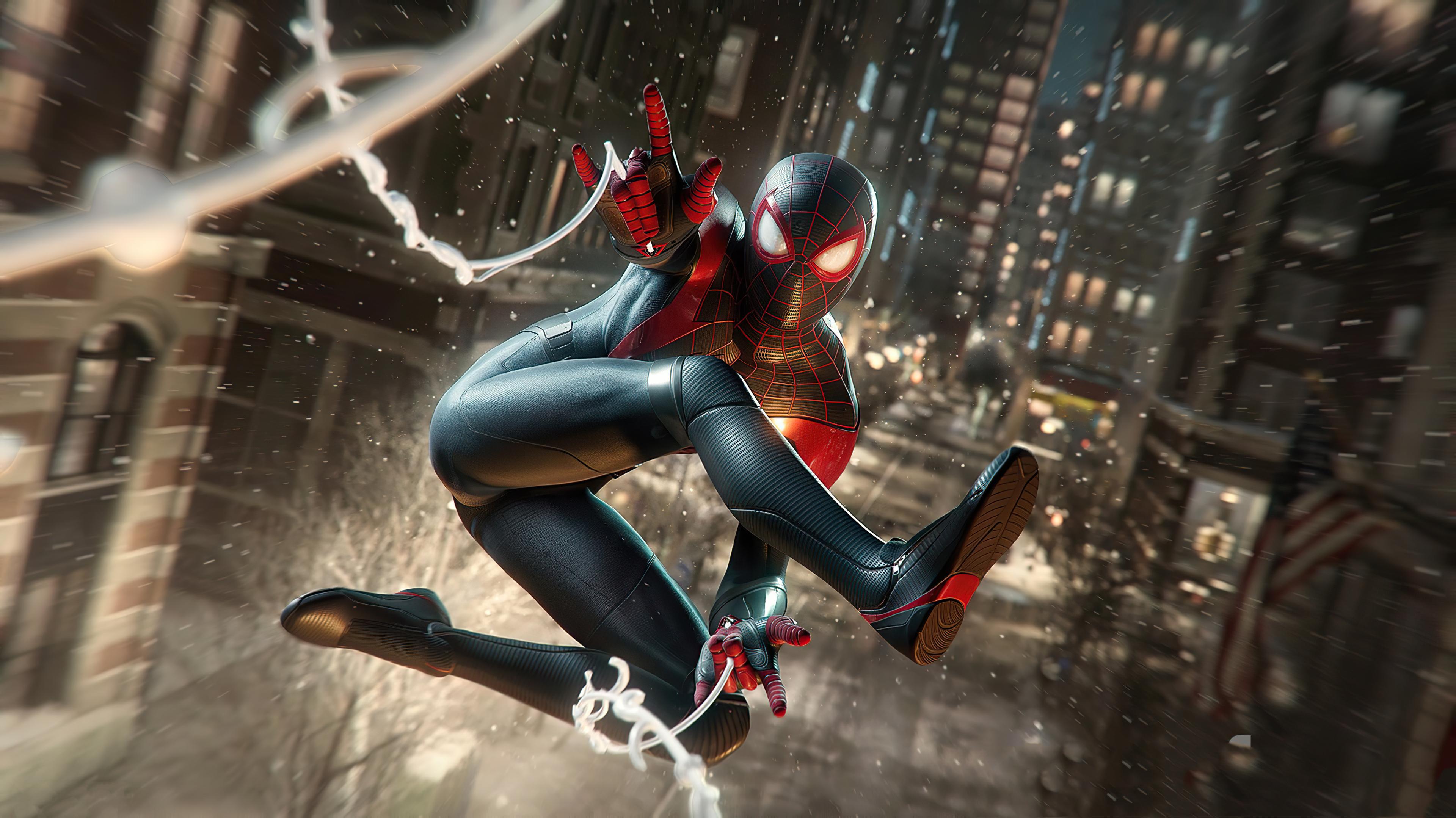 Marvel S Spider Man Miles Morales 4k Wallpaper Playstation 5 2020 Games Games 3110