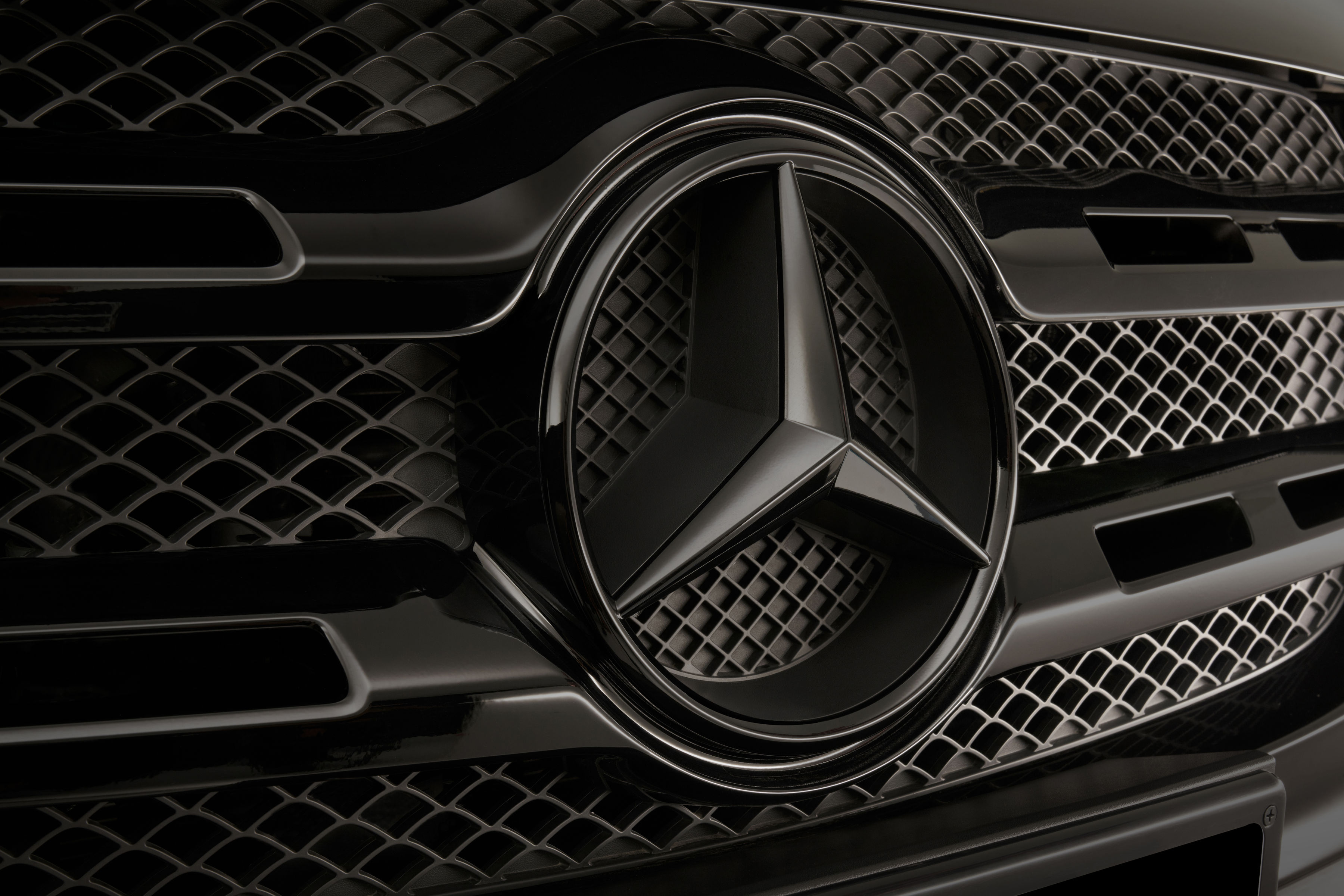 Mercedes Benz X Class 4K Wallpaper, Logo, Black/Dark, #83