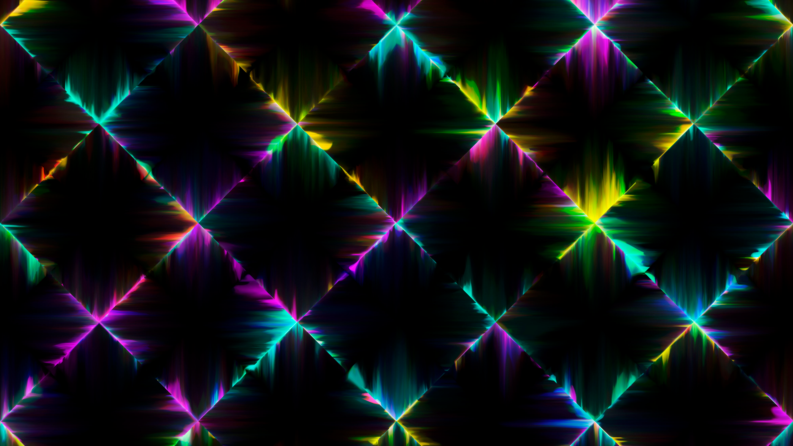 Neon Lights 4k Wallpaper Colorful Black Background Abstract 1