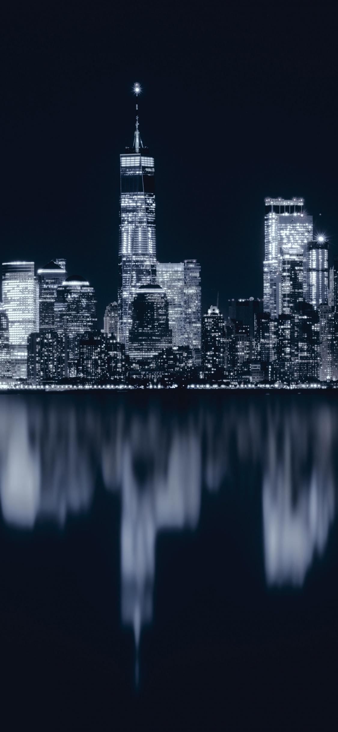 New York City 4k Wallpaper Night Cityscape City Lights Reflections Dark 5k World 1603