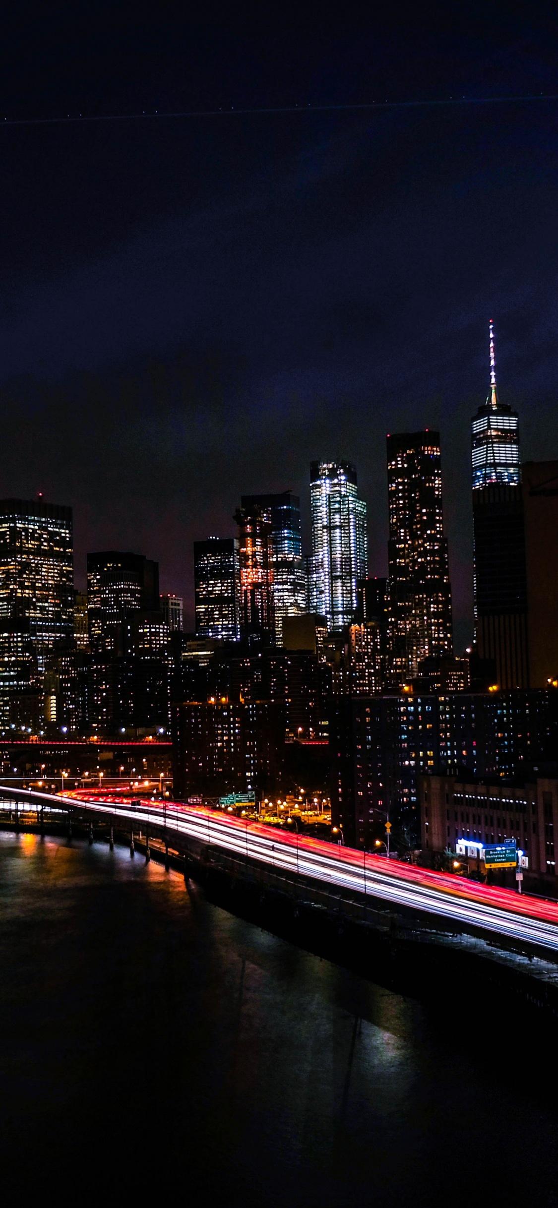 New York City 4k Wallpaper Night Cityscape City Lights Timelapse Night Traffic 5k World 1842