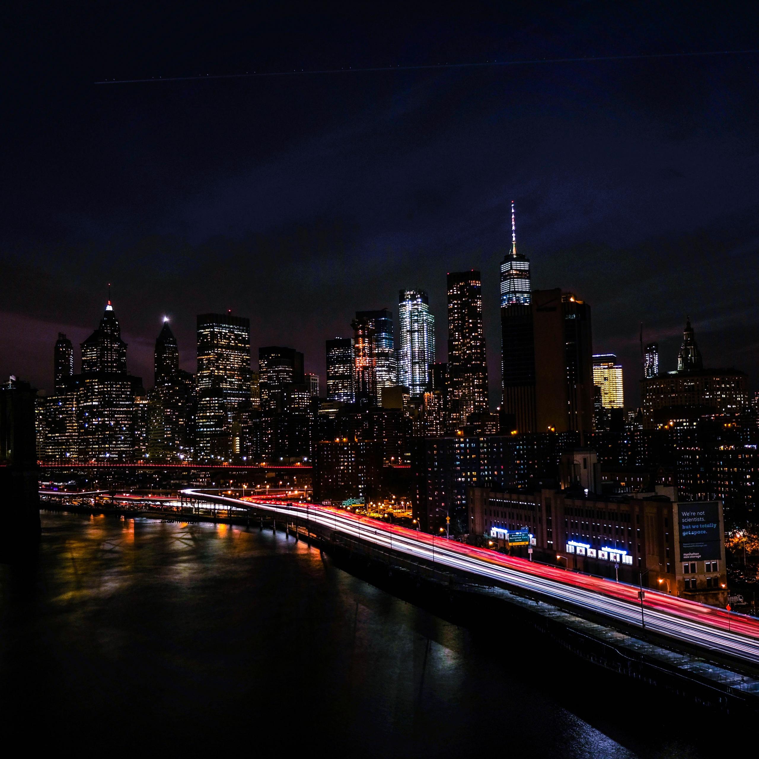 New York City 4K Wallpaper, Night, Cityscape, City Lights