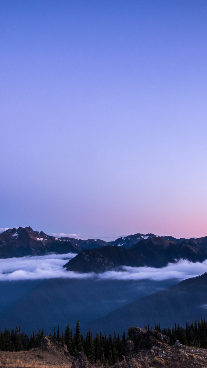 4k Wallpaper Olympic National Park Sunset Blue Mountains